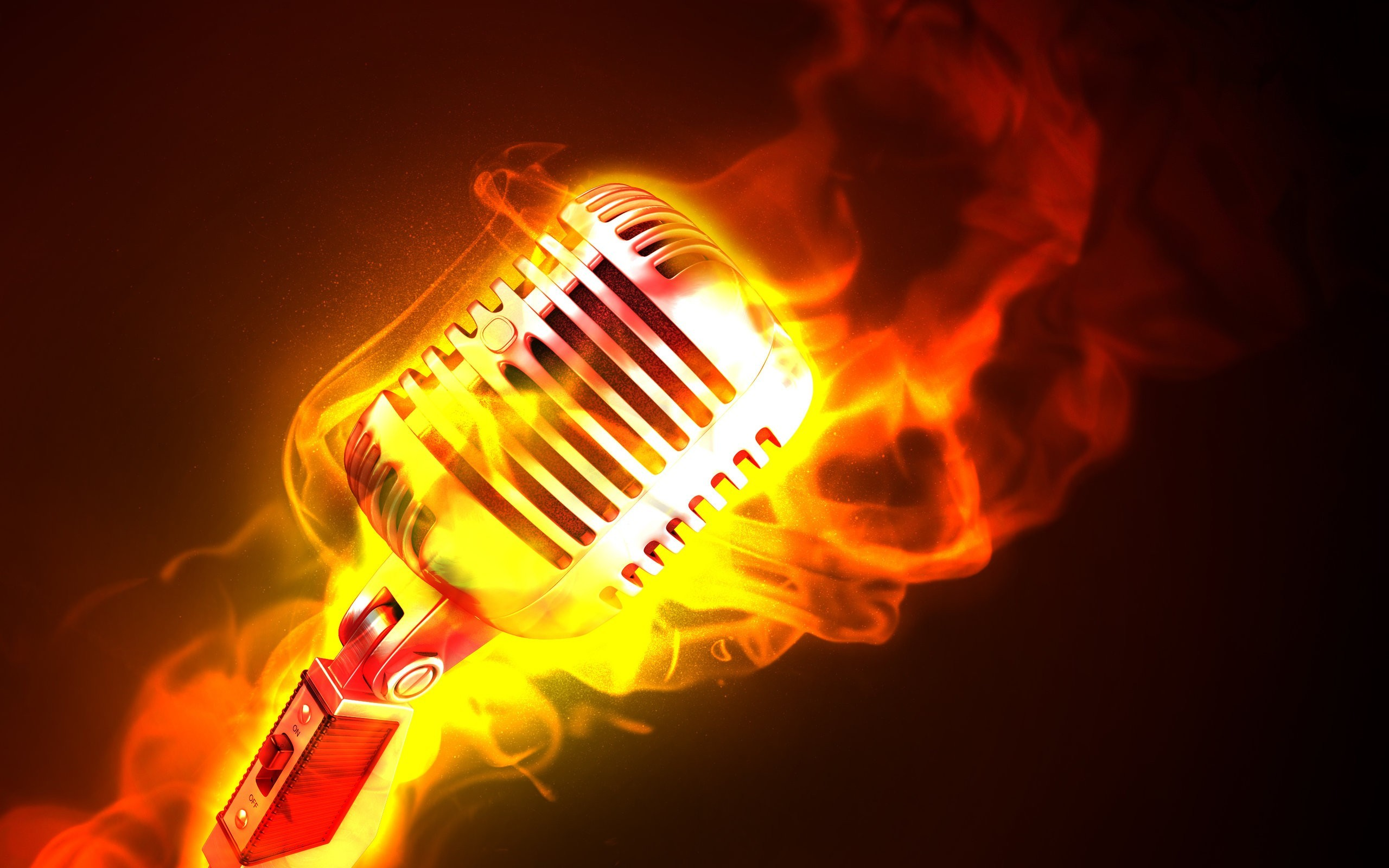 2560x1600 Fire Microphones Photomanipulations At 3d Wallpapers