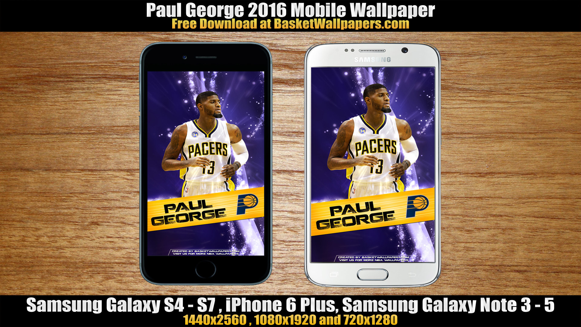 1920x1080 Paul George Indiana Pacers 2016 Mobile Wallpaper