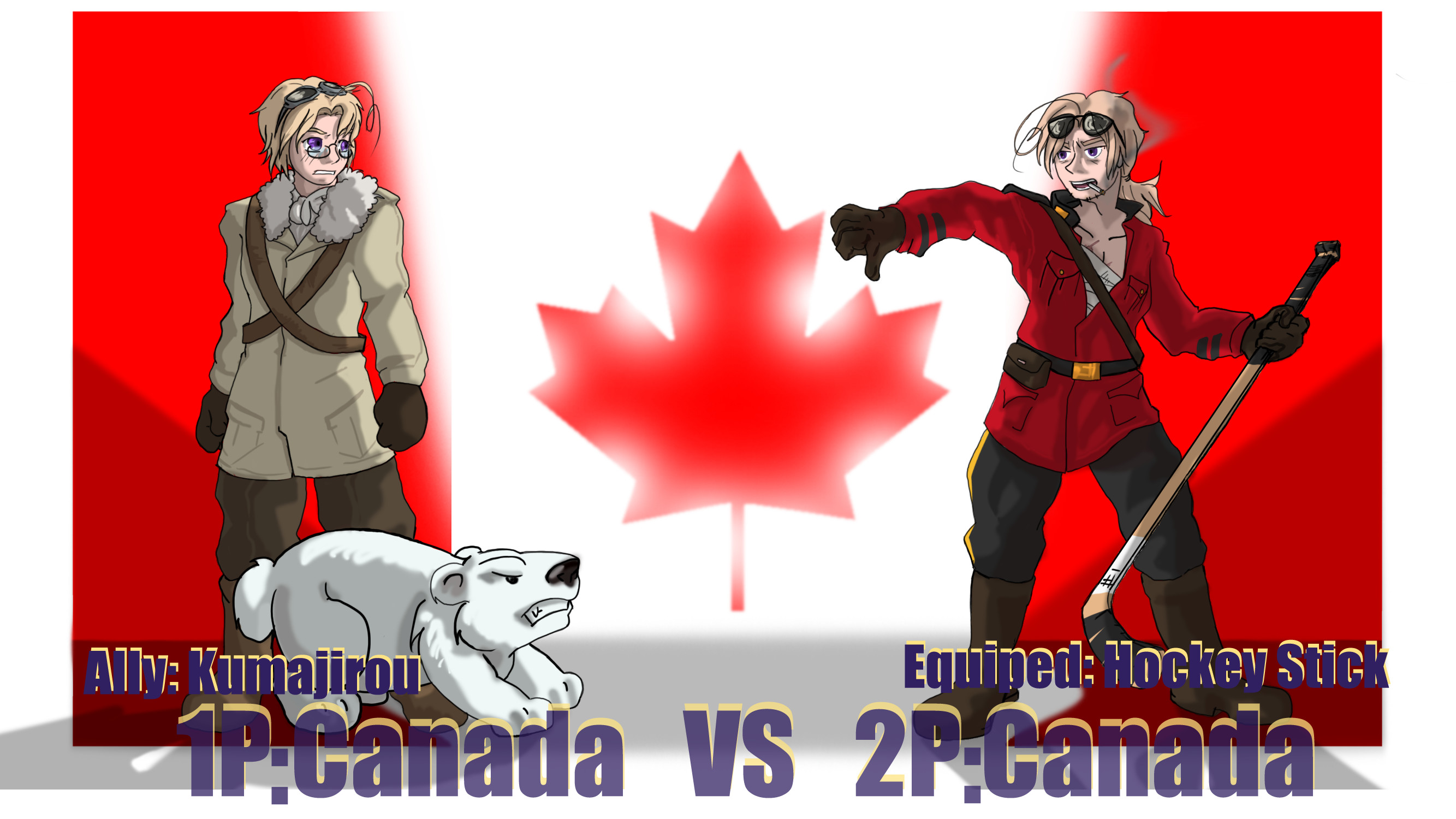 2667x1500 Hetalia fights pcanada sagealina on deviantart png  Hetalia 2p vs  1p