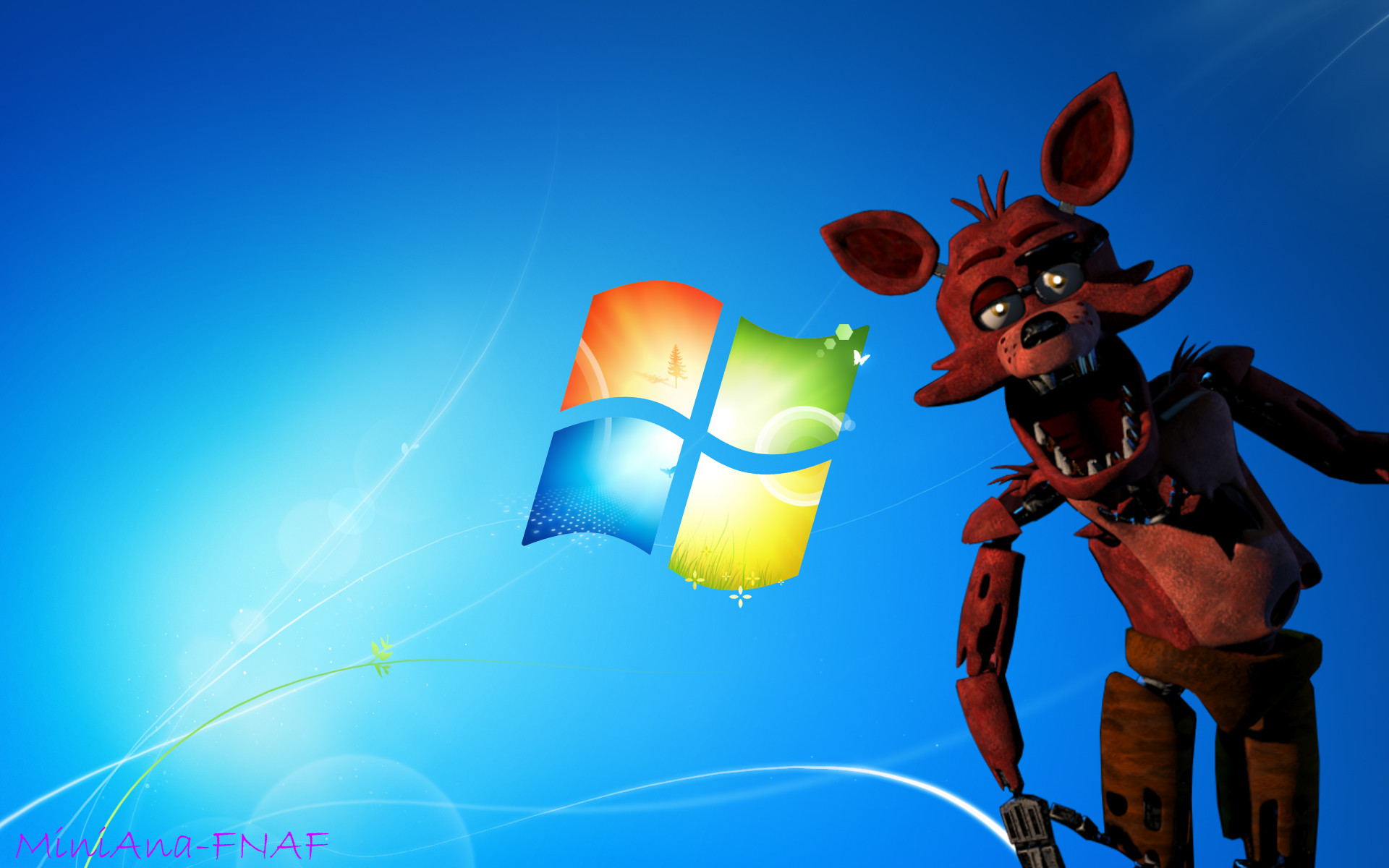 1920x1200 FNAF WALLPAER-Foxy the fox Windows 7 by MiniAna-Fnaf on .