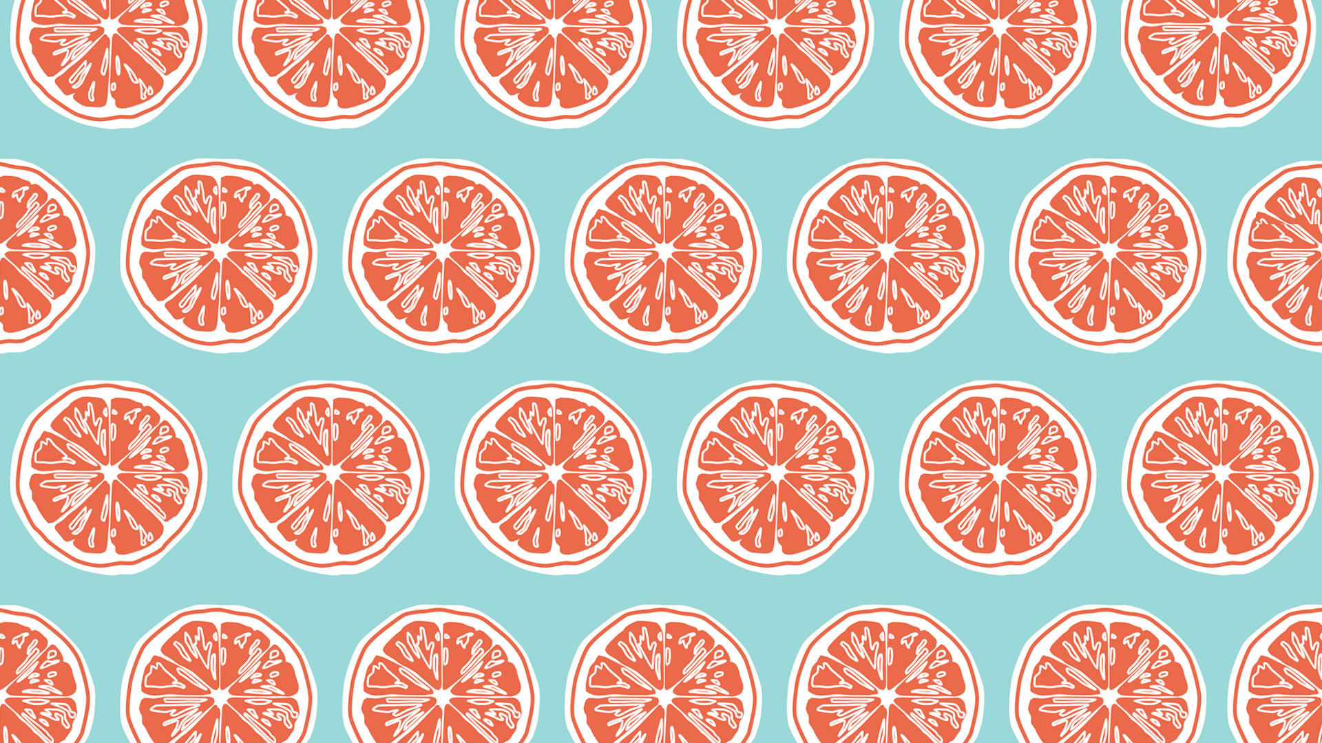 1920x1080 ... Coral Colored Wallpaper with Slice in Blue Background