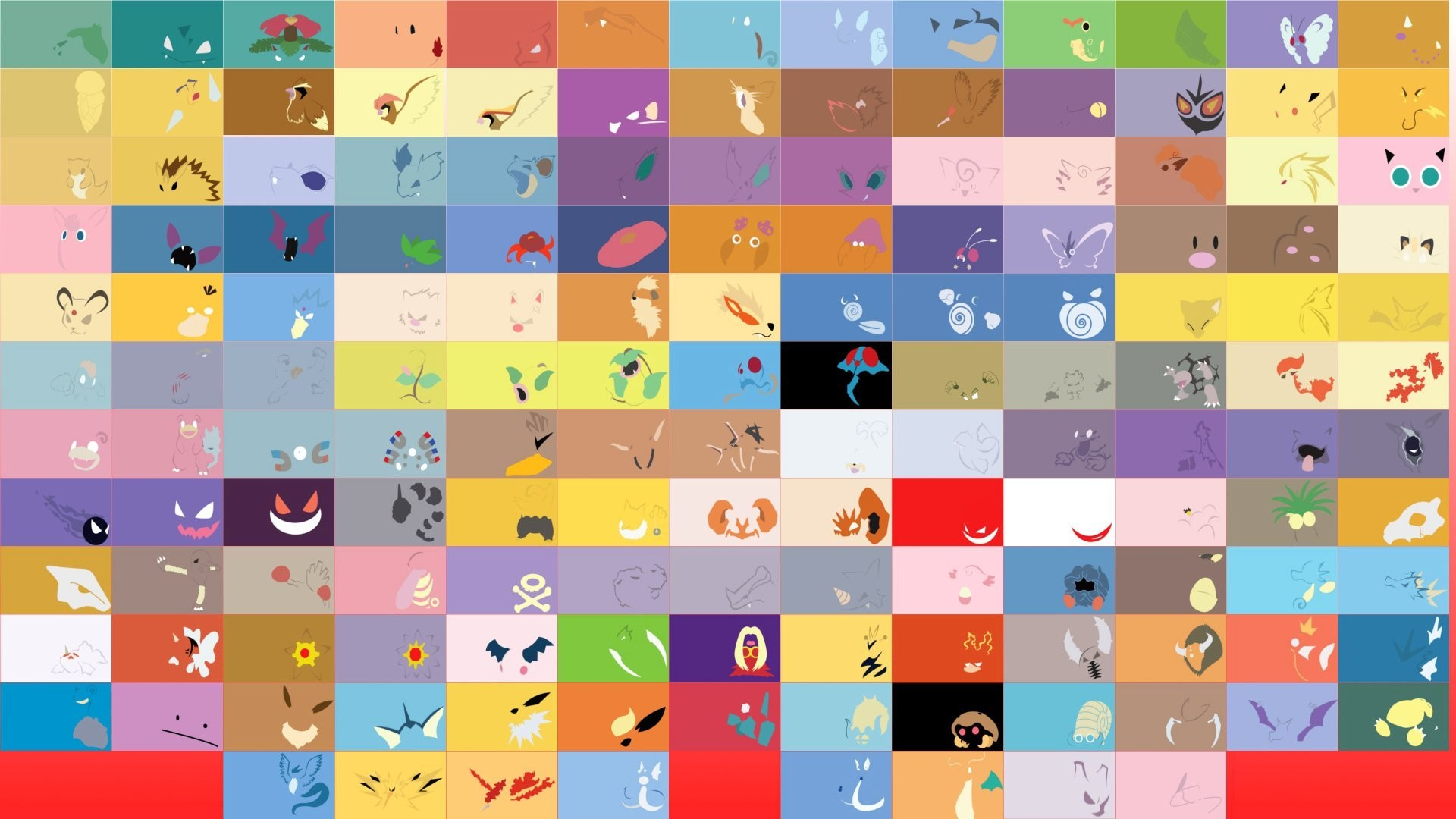 1920x1080 pokemon minimalism textures flowers the cell picture symbol game anime