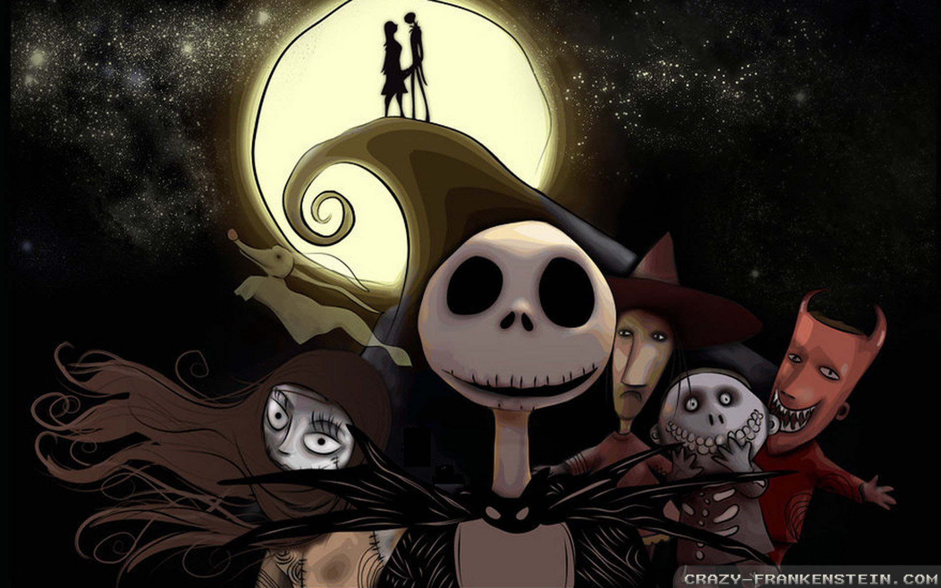 1920x1200 Wallpaper Nightmare Before Christmas Wallpapers 4 Resolution 1024x768