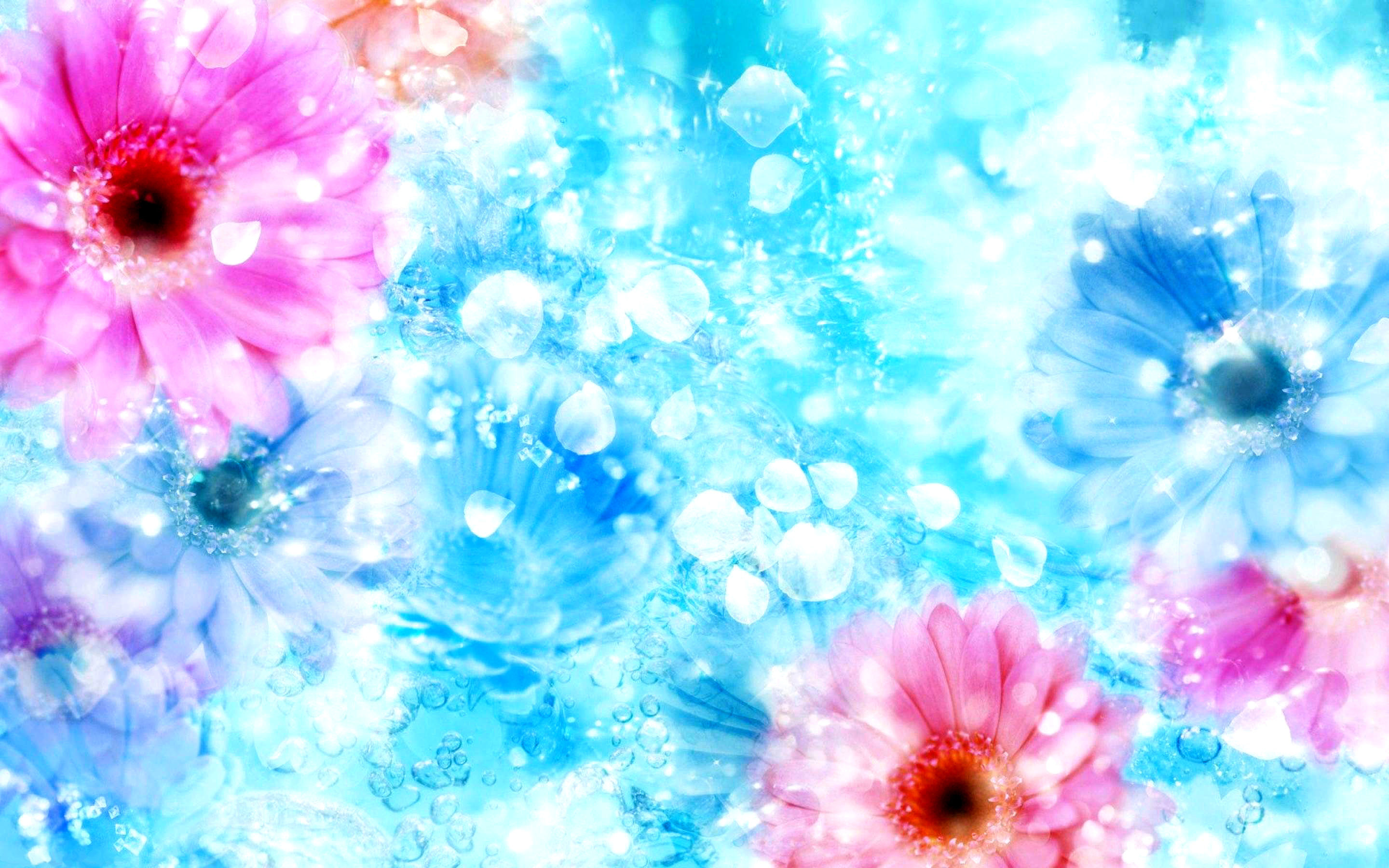 2880x1800 pin Blue Flower clipart wallpaper background #11