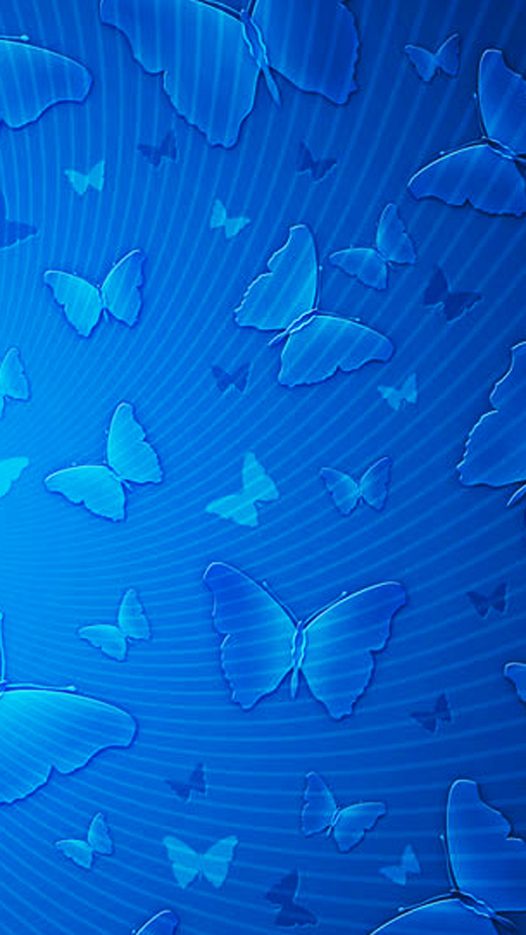 1080x1920 Blue Butterflies Pattern Android Wallpaper ...