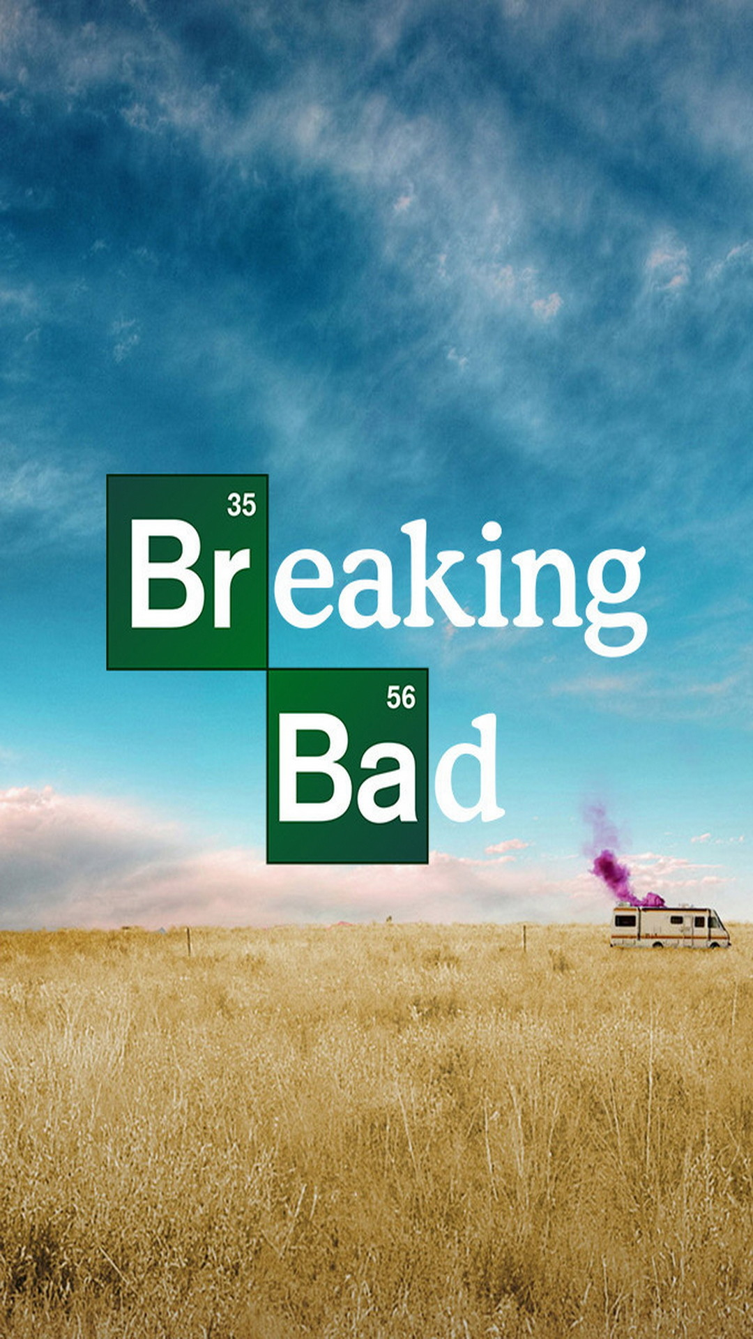 1080x1920 Movies Breaking Bad Blue Yellow Series Poster
