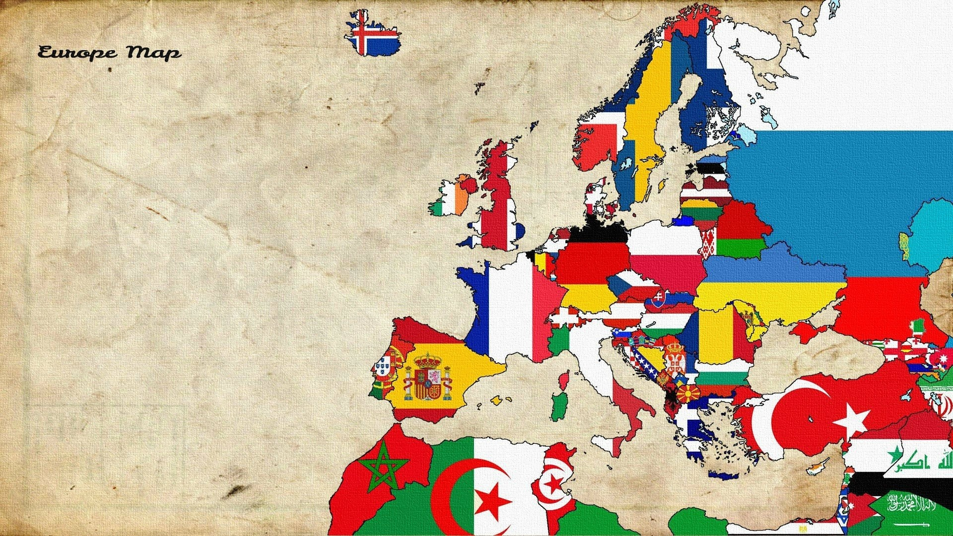 1920x1080 Maps Europe Old Map Flags