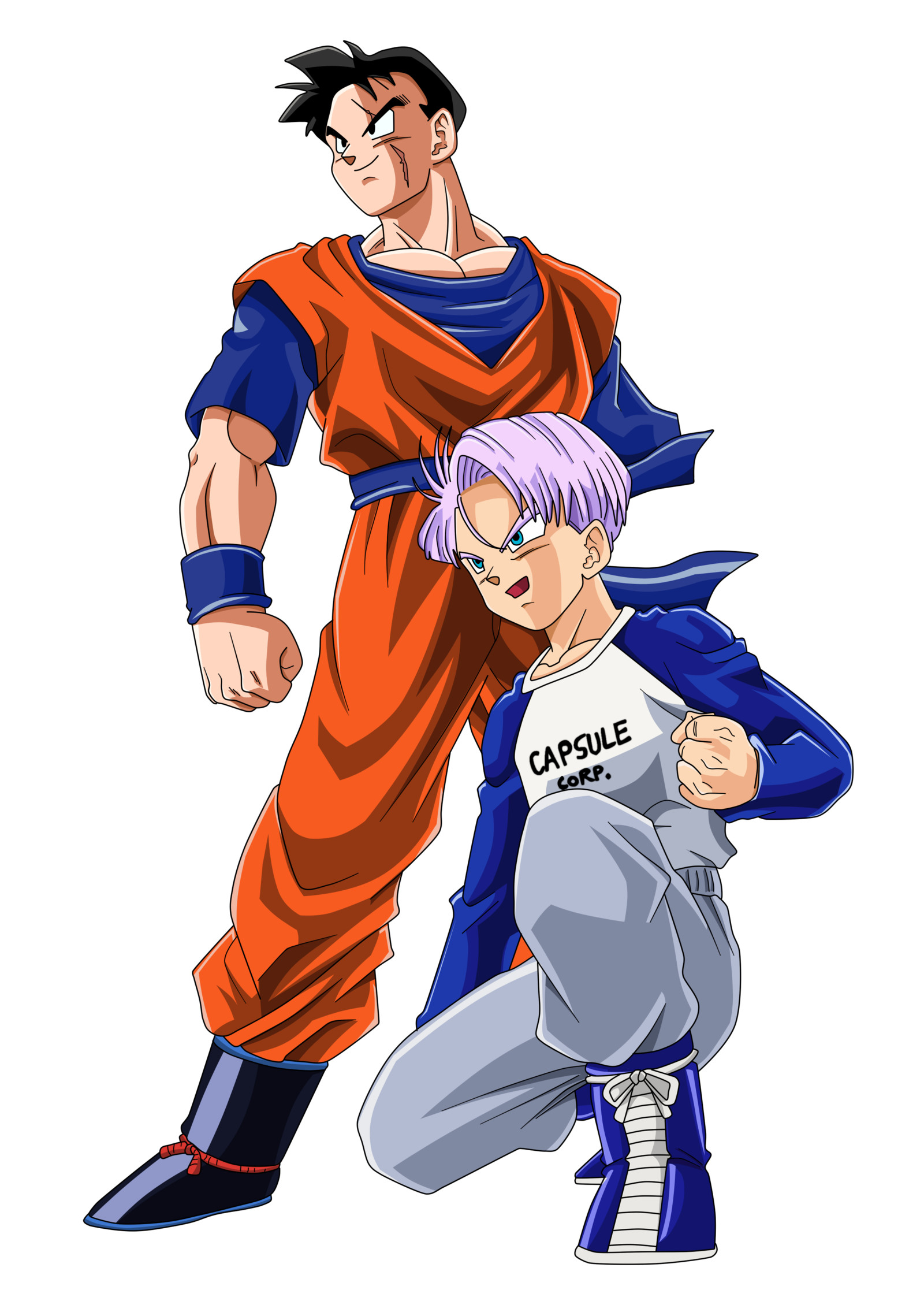 1600x2252 Future Gohan And Trunks Color By BoScha196 On DeviantArt