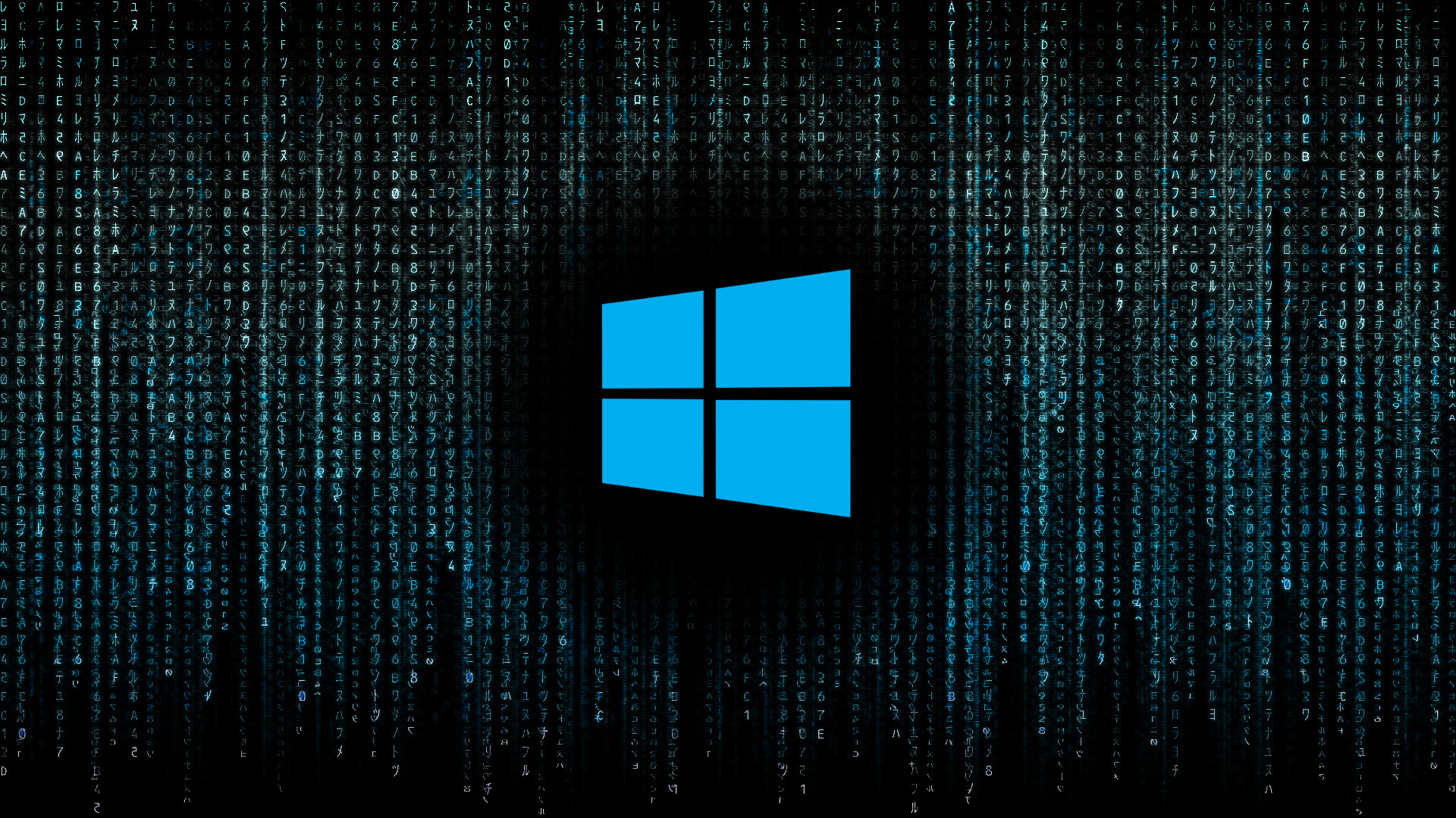 Windows 10 Original Wallpaper: Blue Matrix Wallpaper (56+ Images