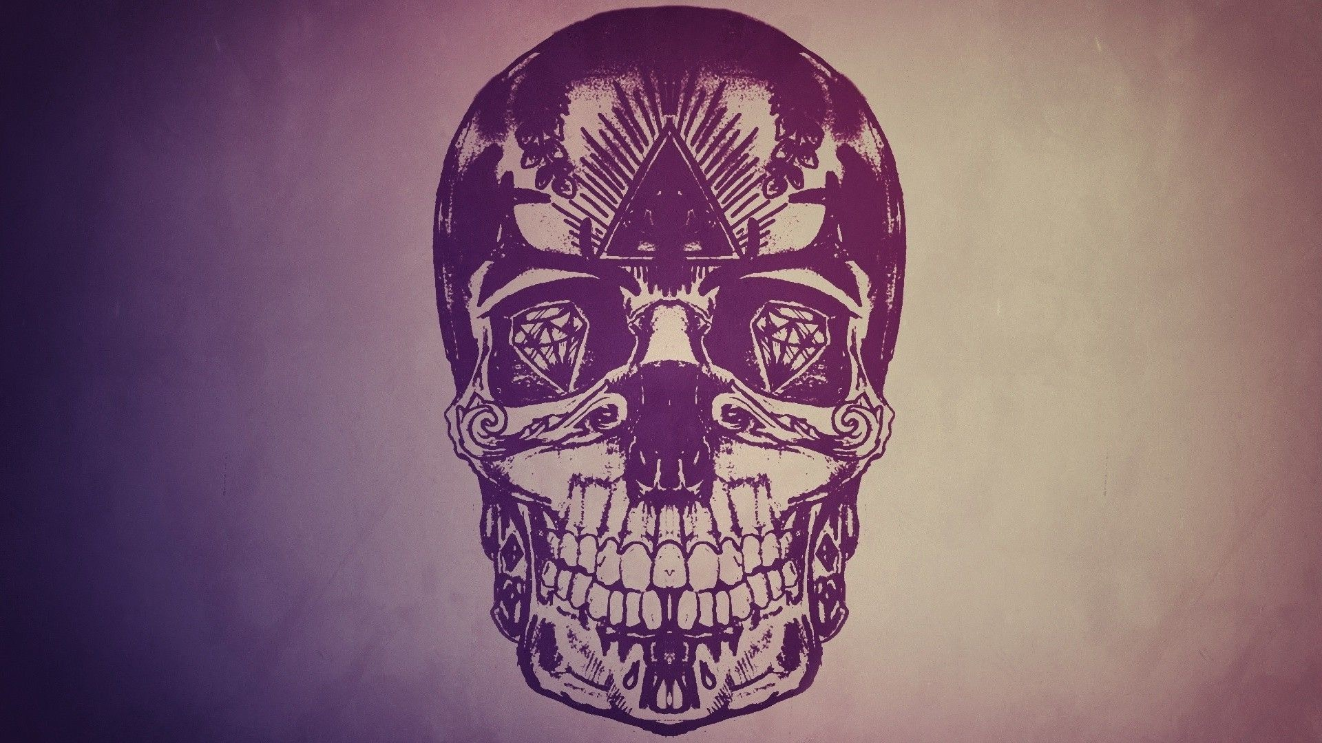 1920x1080 Colorful Skull Pic