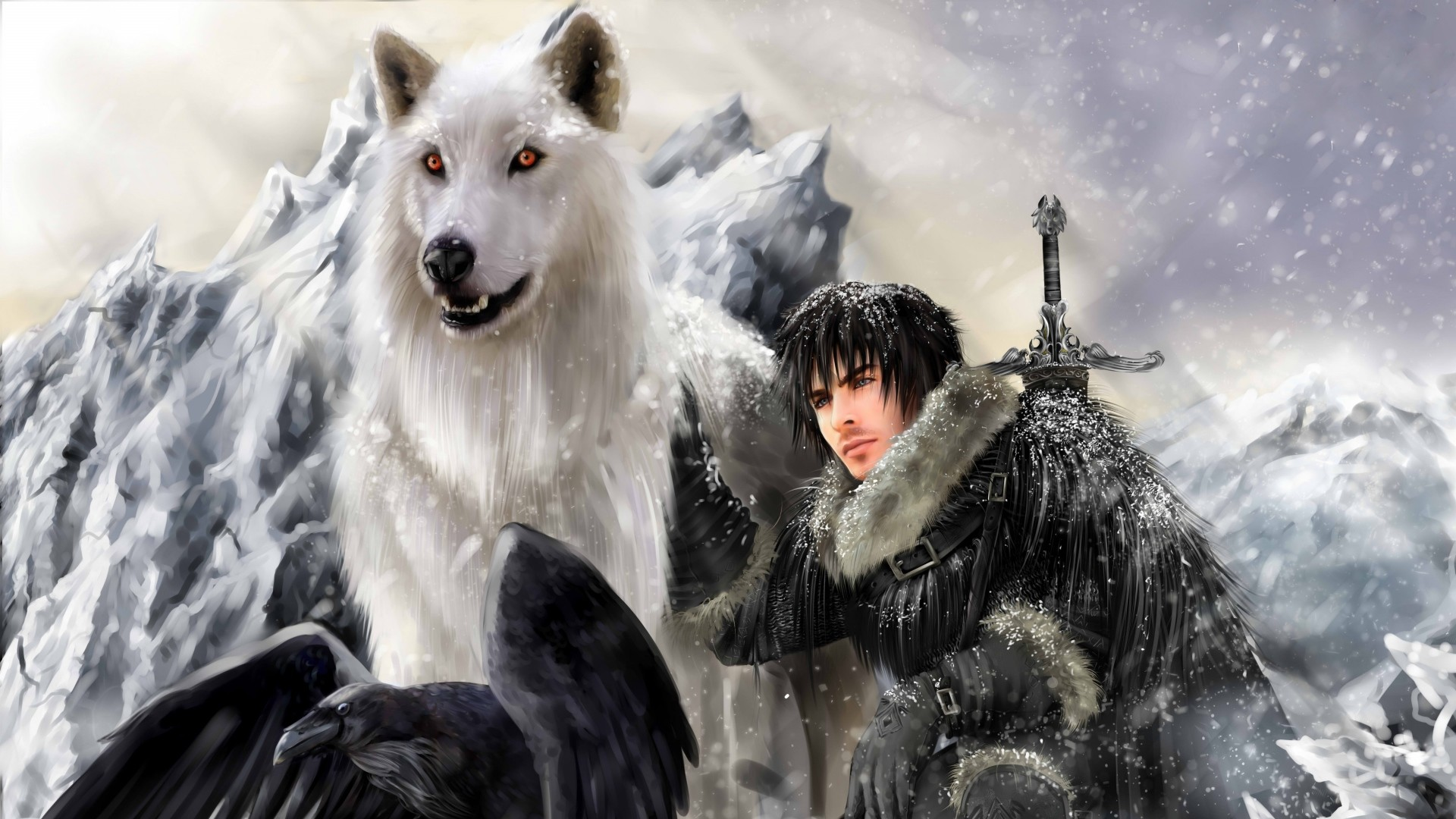 1920x1080  Wallpaper the song of ice and fire, game of thrones, jon snow,