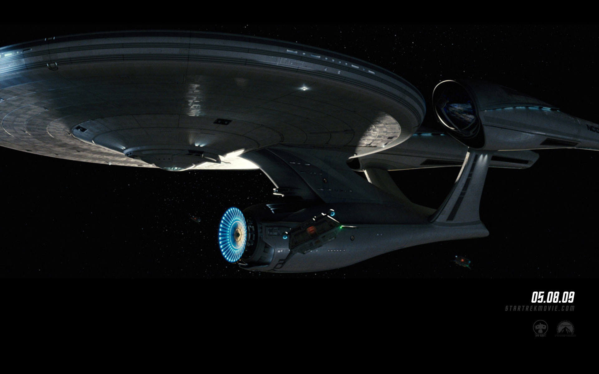 "1920x1200 ""Star Trek"" desktop wallpaper number 10 - the 2009 movie version of the USS"