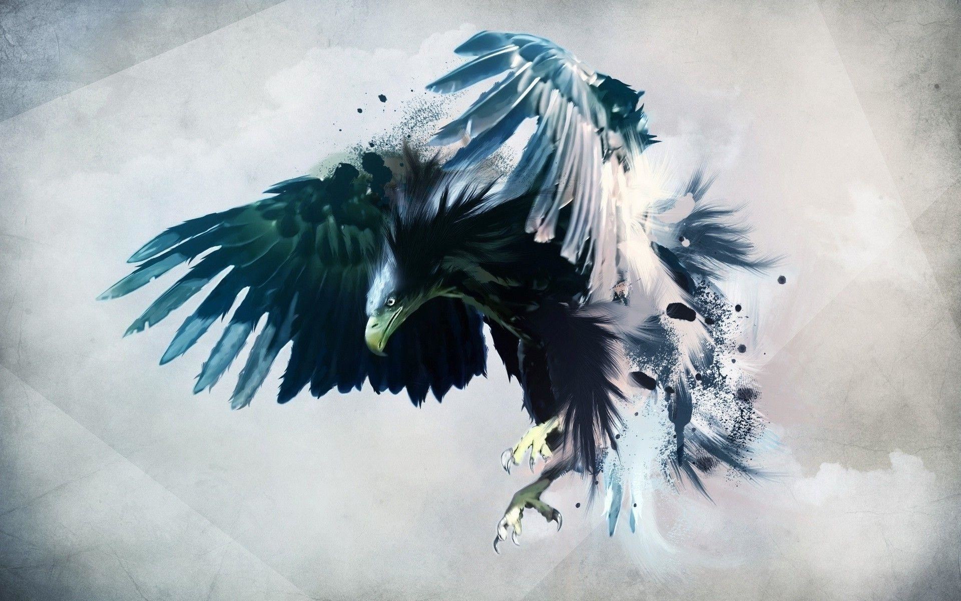 Abstract Eagle Wallpaper 4k