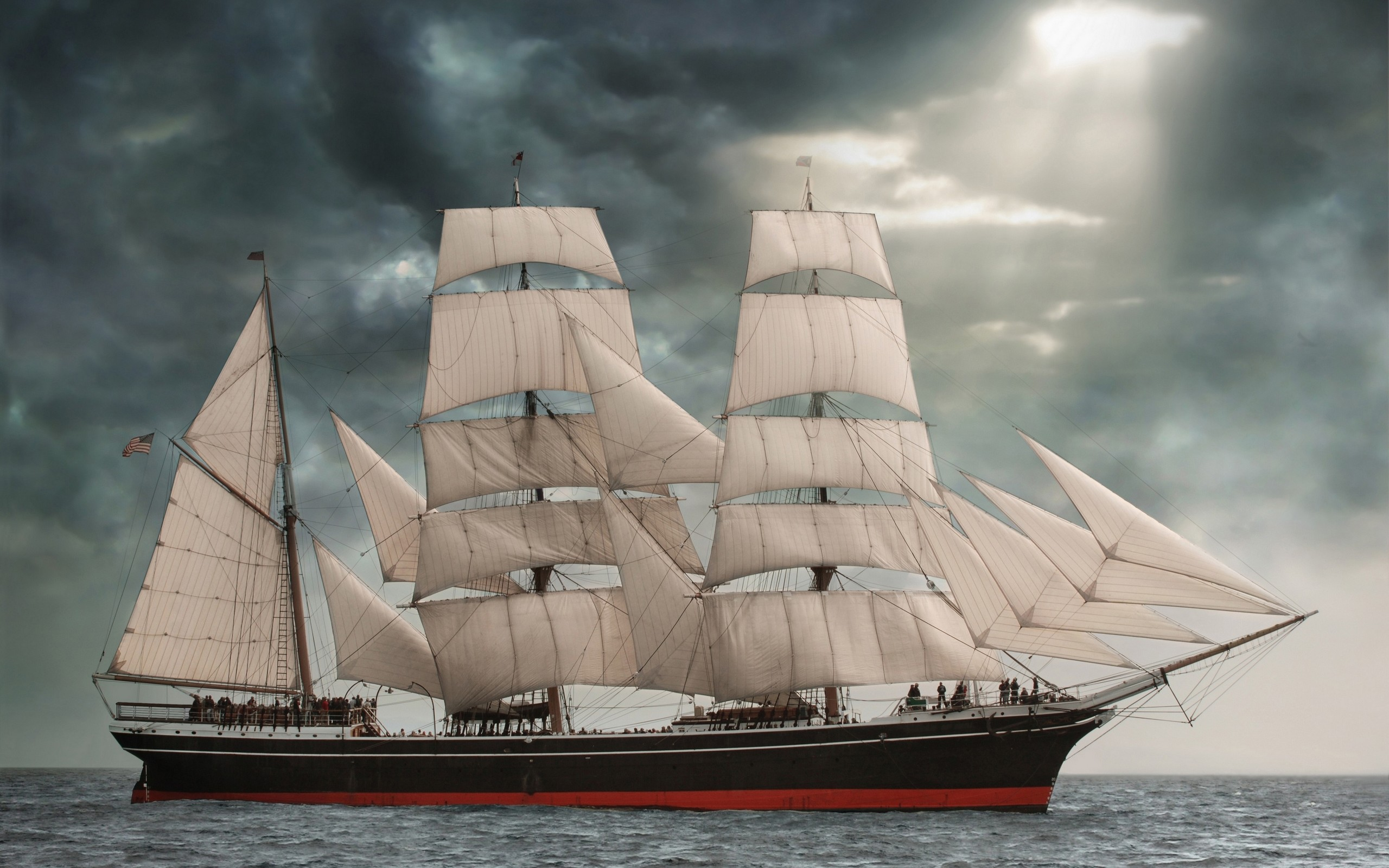 2560x1600 Sailing Ship Full HD Charming Wallpaper Free HD Wallpaper .