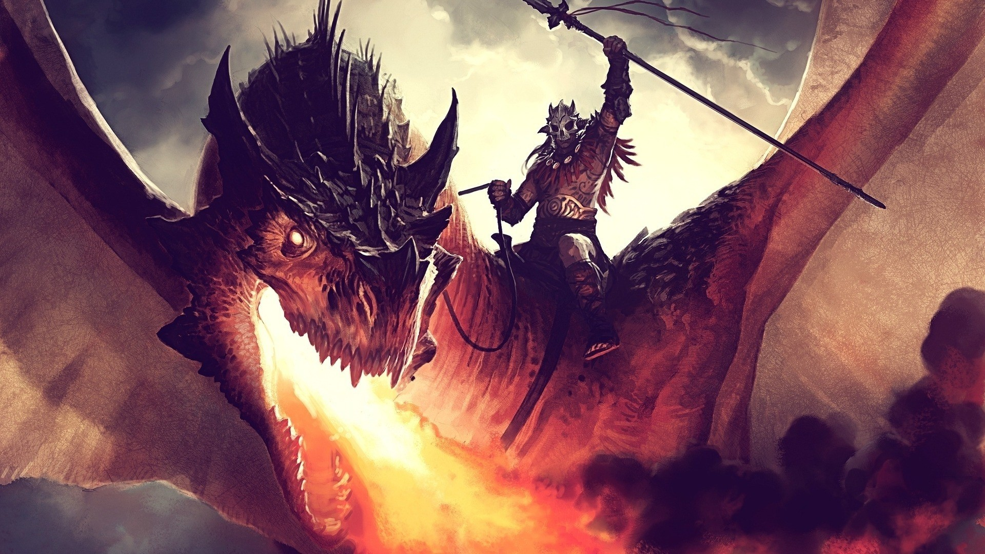1920x1080 Magic The Gathering Dragon Wallpaper 1920×1080 #21944 HD Wallpaper .