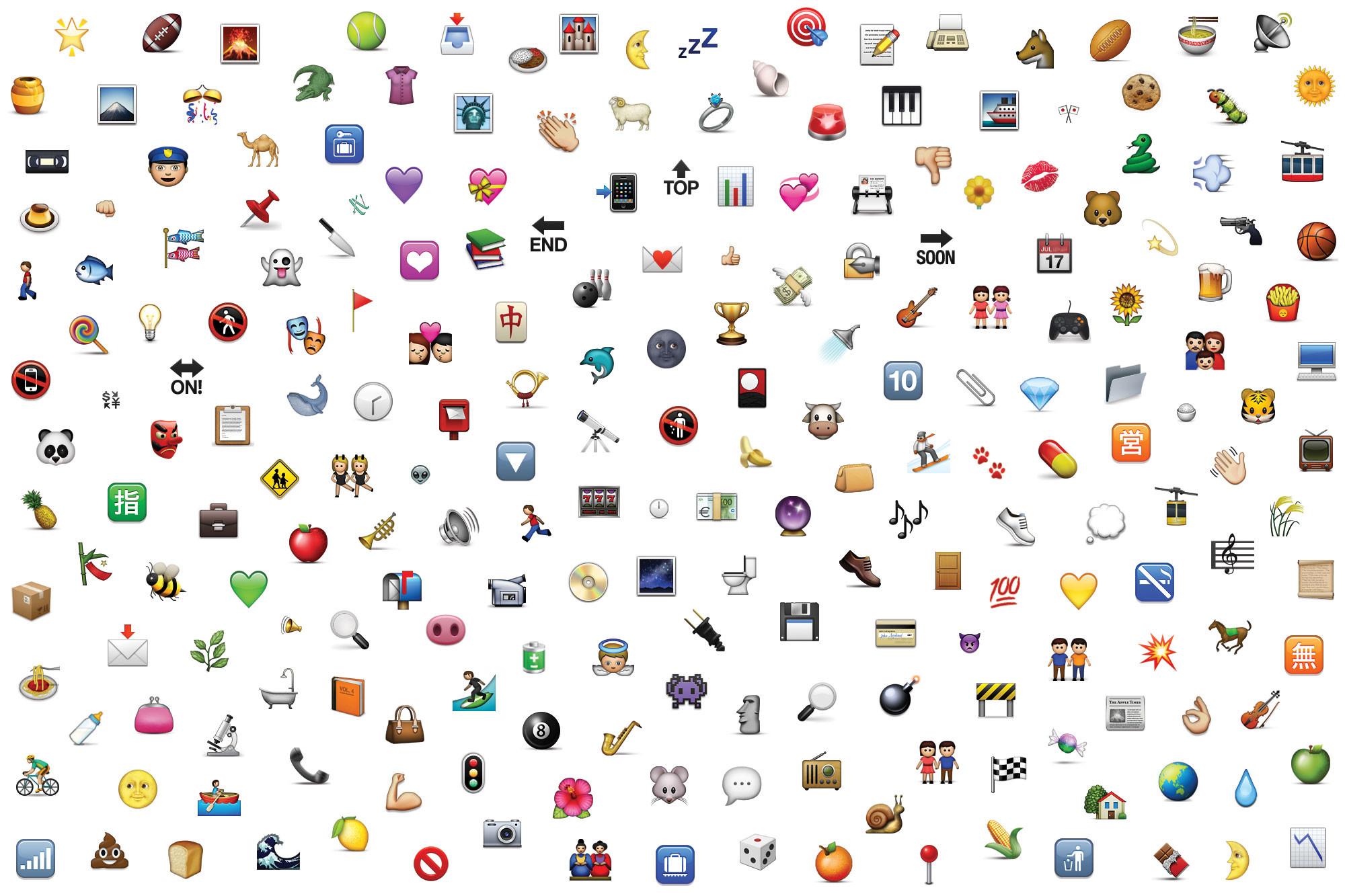 2000x1333 Emoji Wallpaper