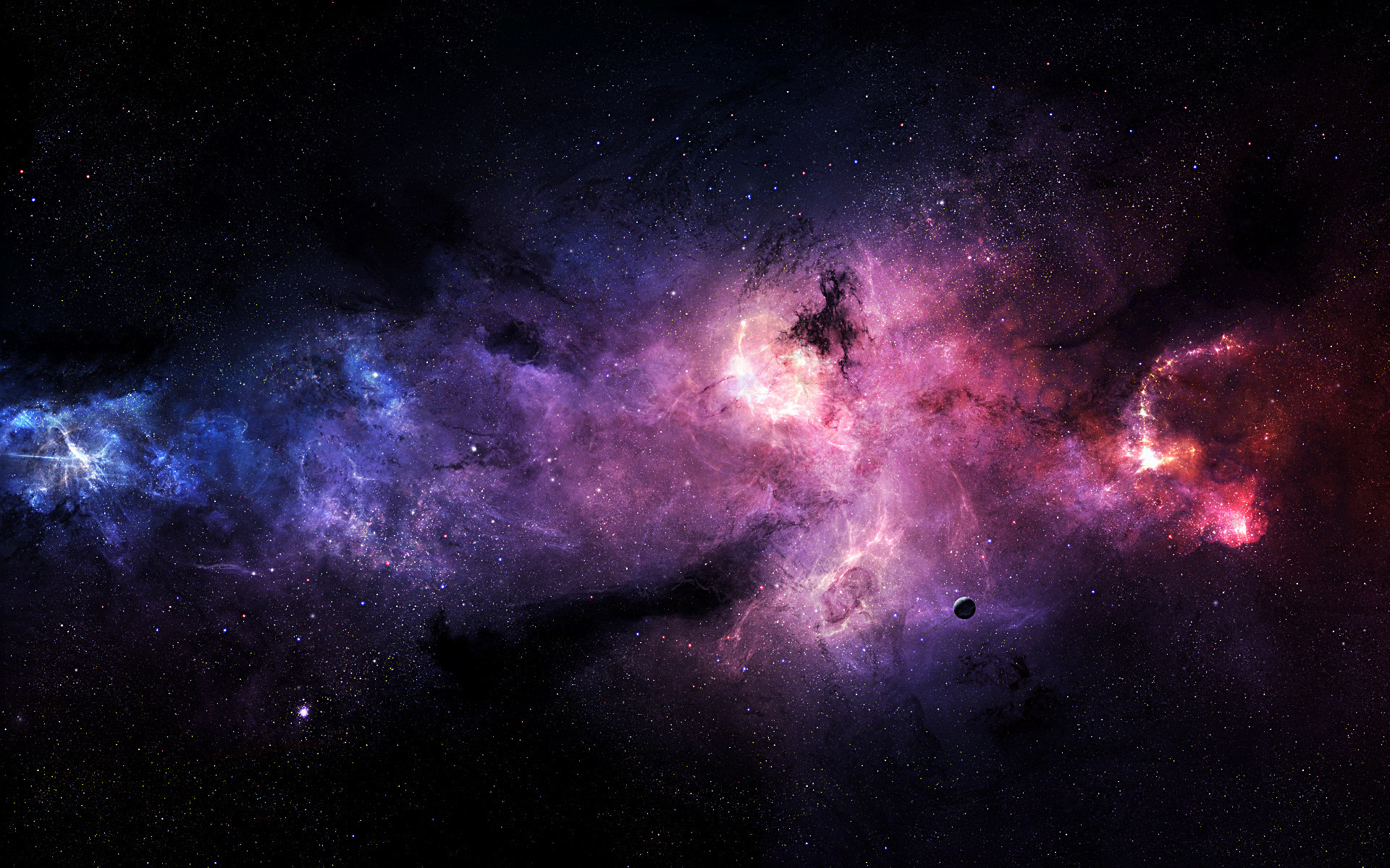 1920x1200 Purple Outer Space Wallpaper 1920×1200 #20809 HD Wallpaper Res .
