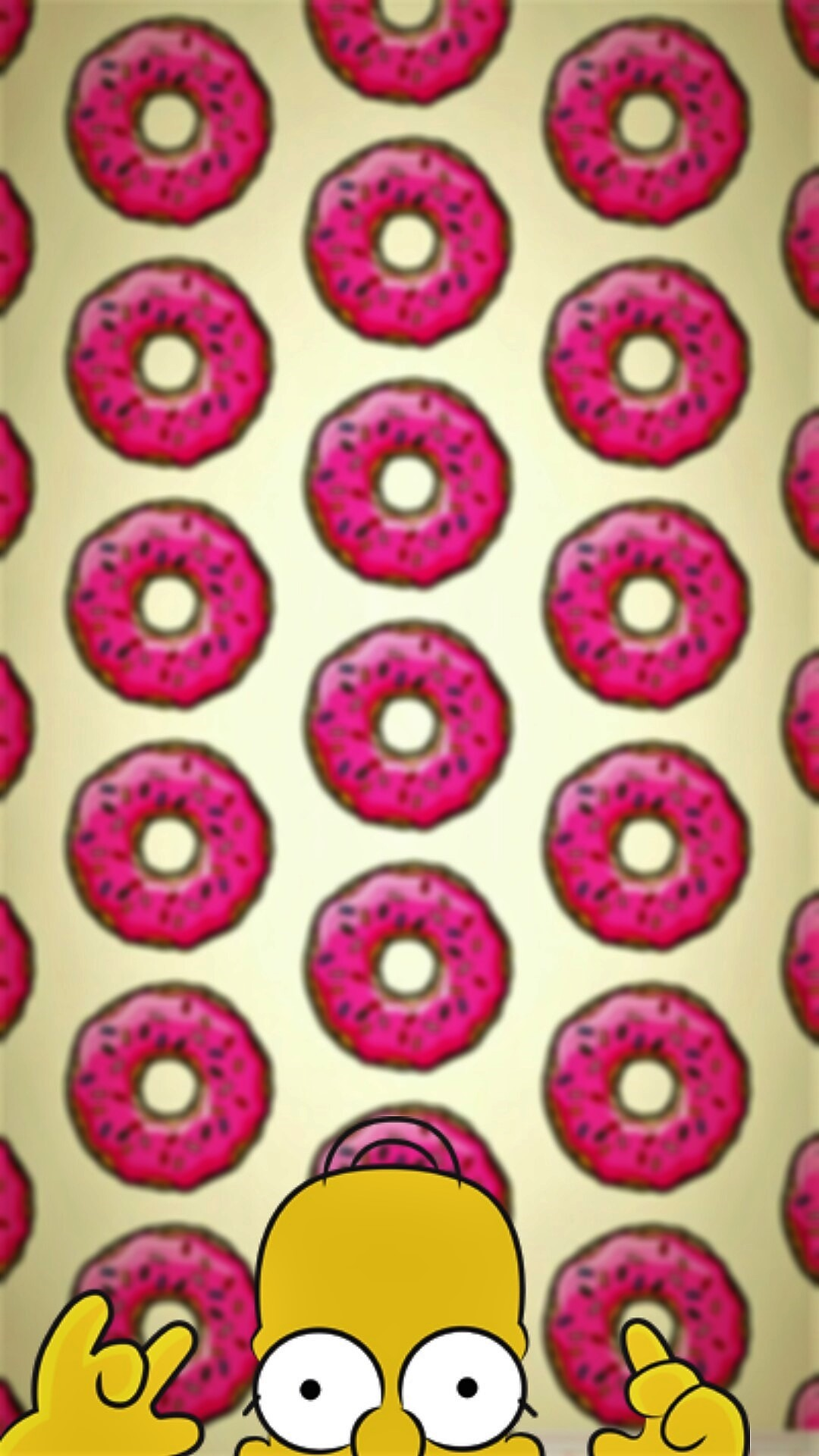1080x1920 Homero donuts - Tap to see more of the cutest cartoon characters wallpapers!  - @