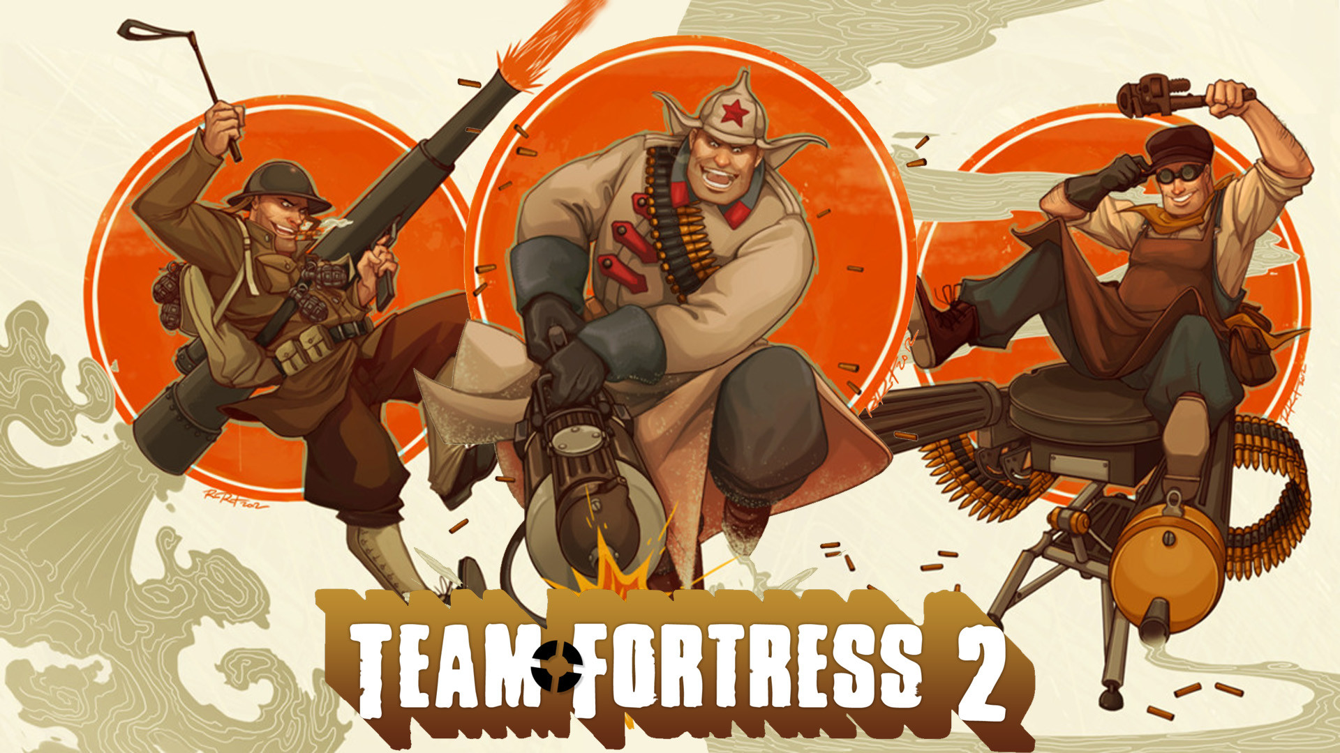 1920x1080 Awesome Set of 1980s Style Team Fortress 2 Characters