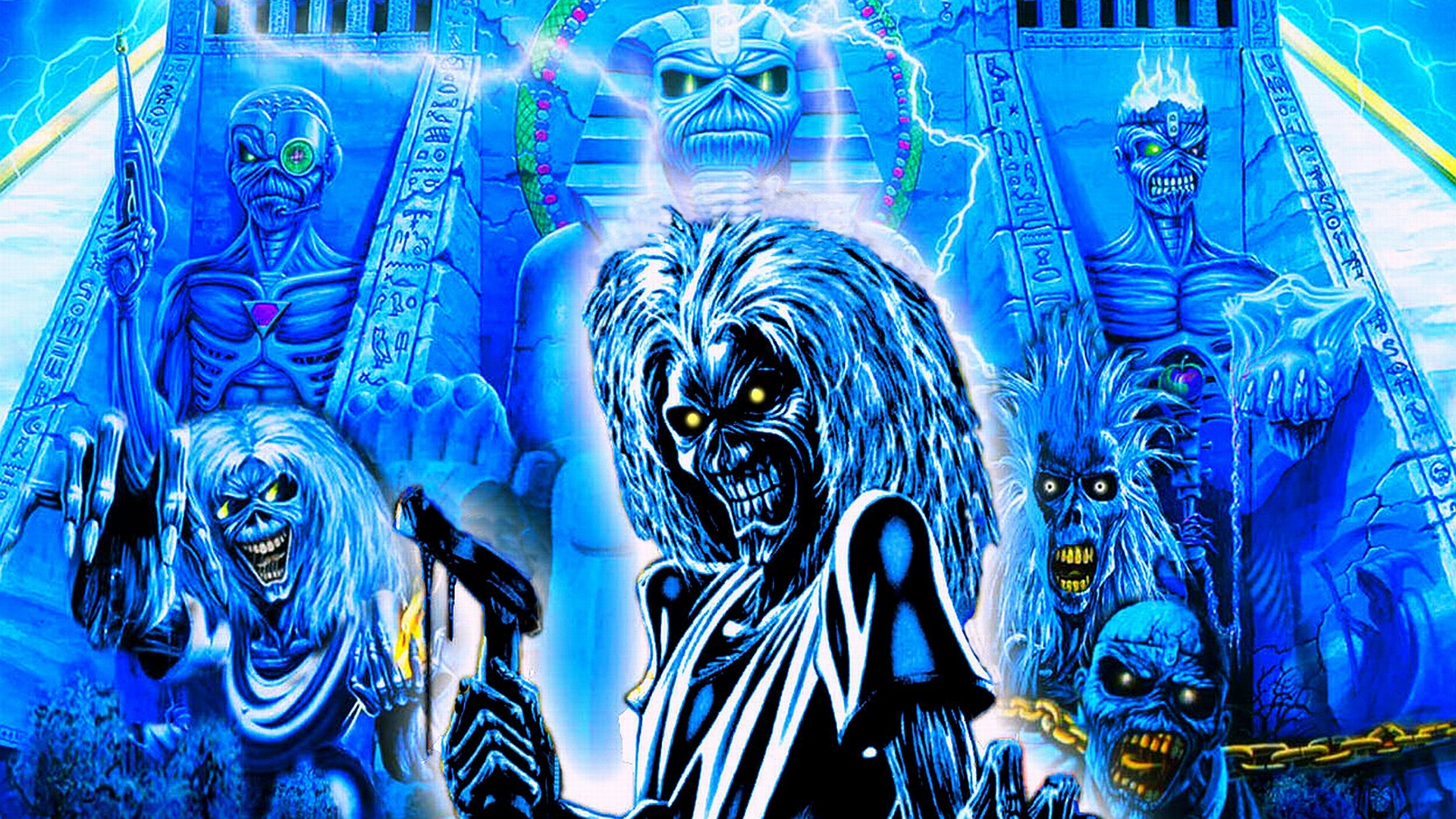 1920x1080 Iron maiden bands groups entertainment hard rock heavy metal eddie album art  dark skulls covers wallpaper |  | 25051 | WallpaperUP