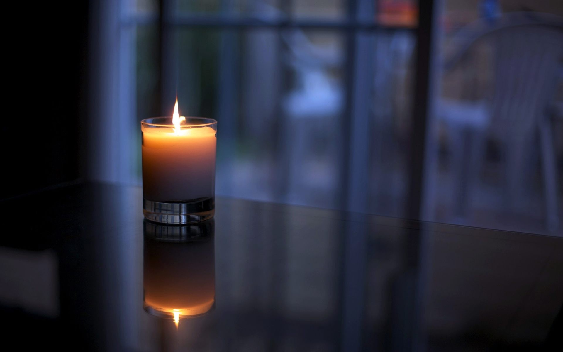 1920x1200 Candle light quit night HD wallpaper