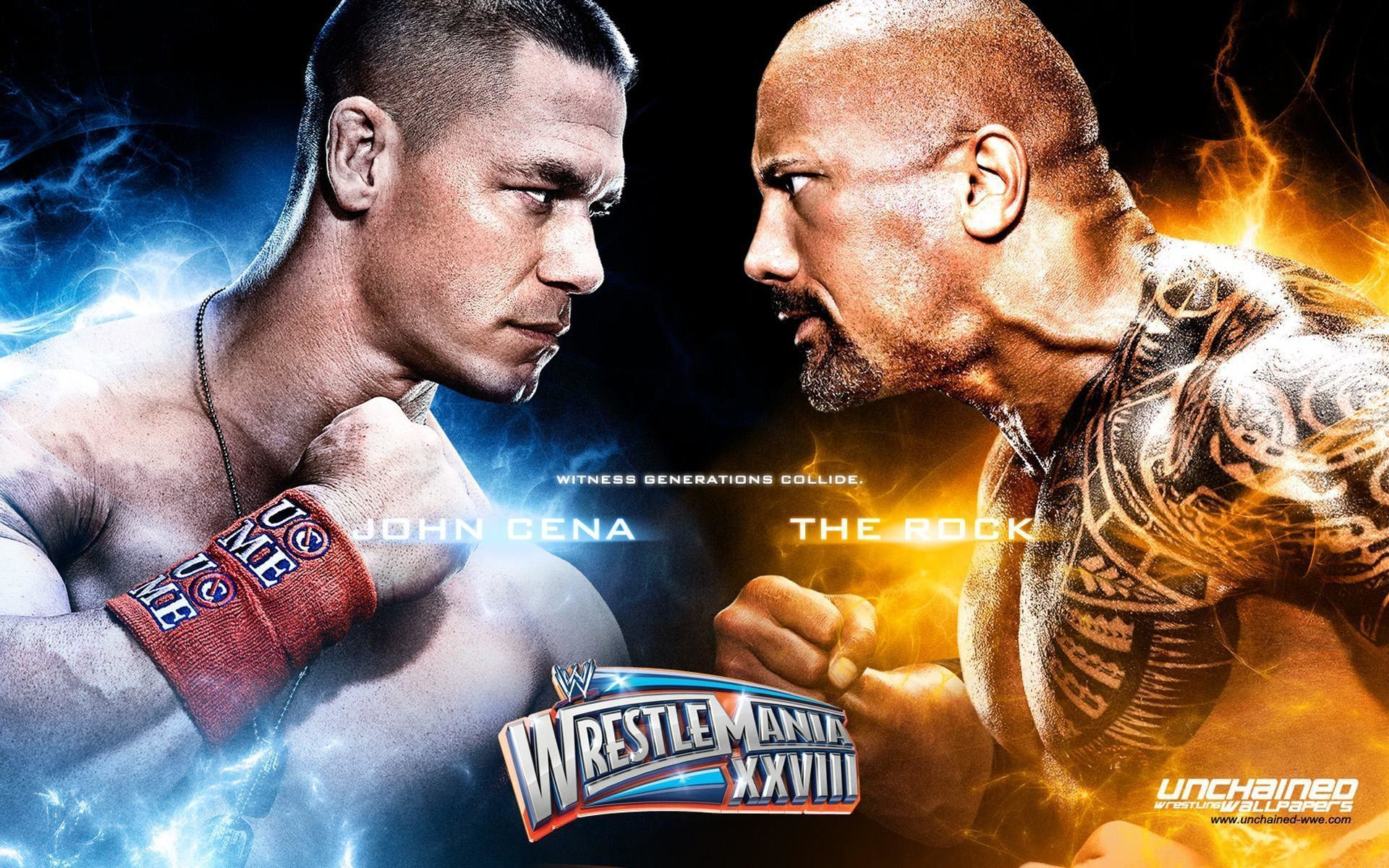 1920x1200 Unchained WWE Wrestling Wallpapers Rock Vs John Cena HD Wallpaper
