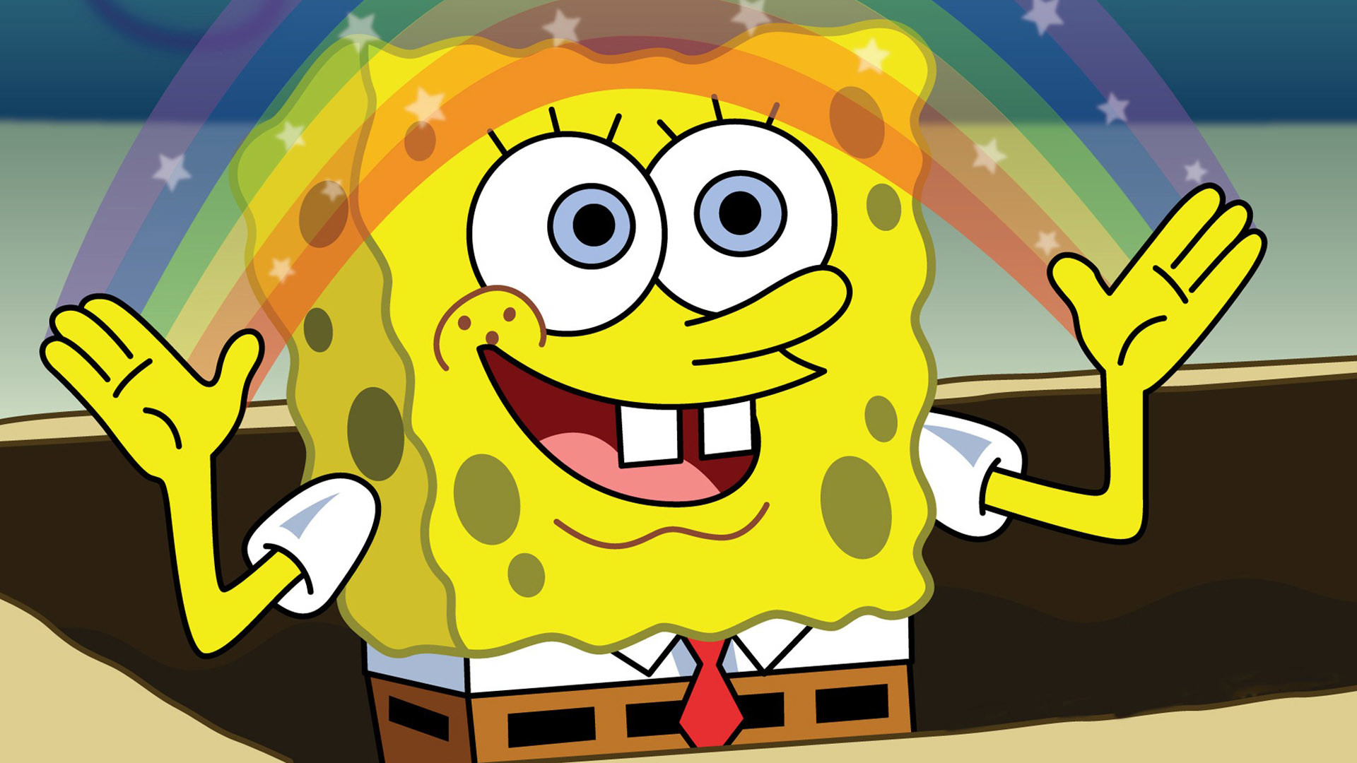 1920x1080 Spongebob Squarepants Rainbow