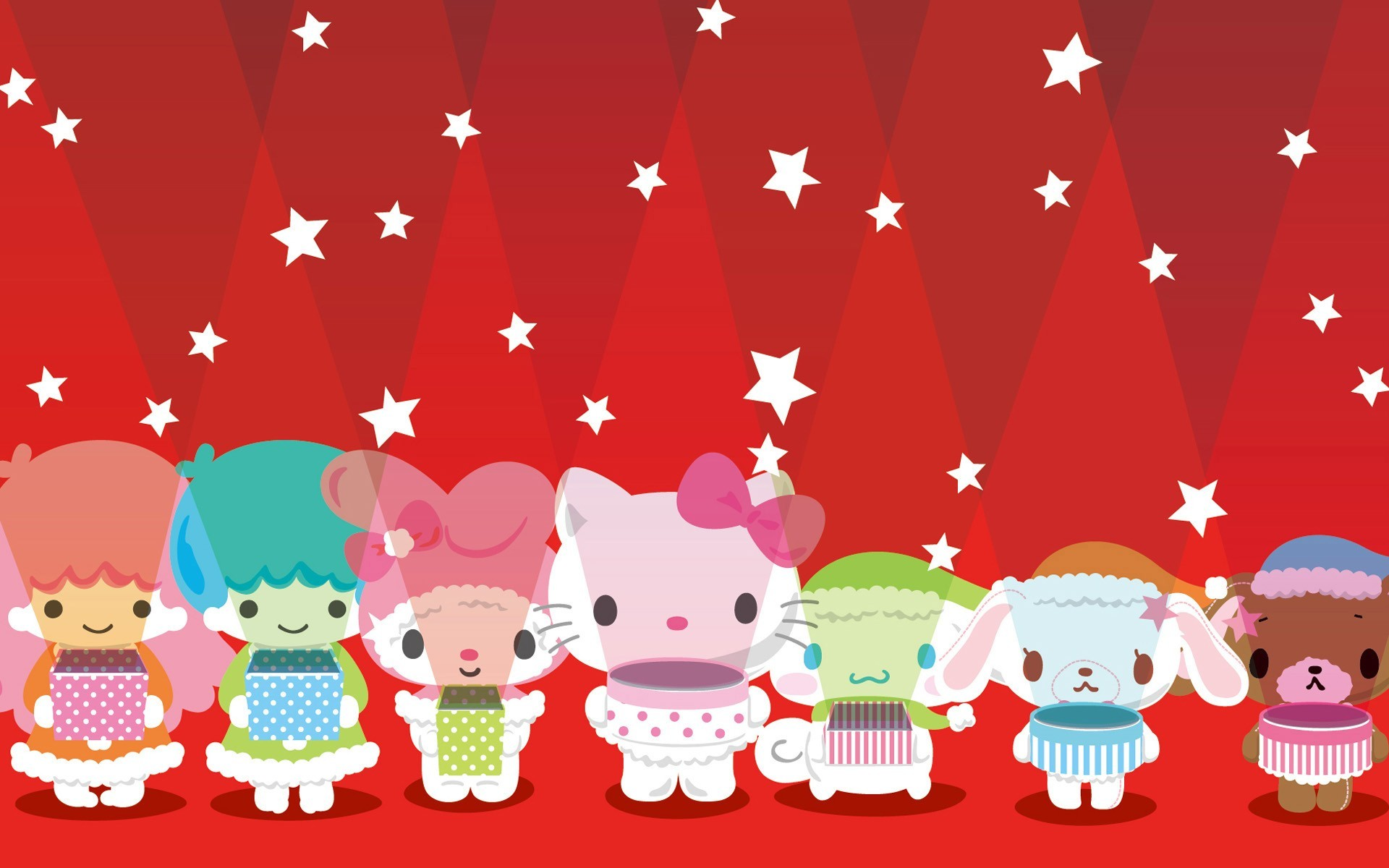 1920x1200 lights sanrio wallpaper background pixels widescreen hello christmas kitty  group character