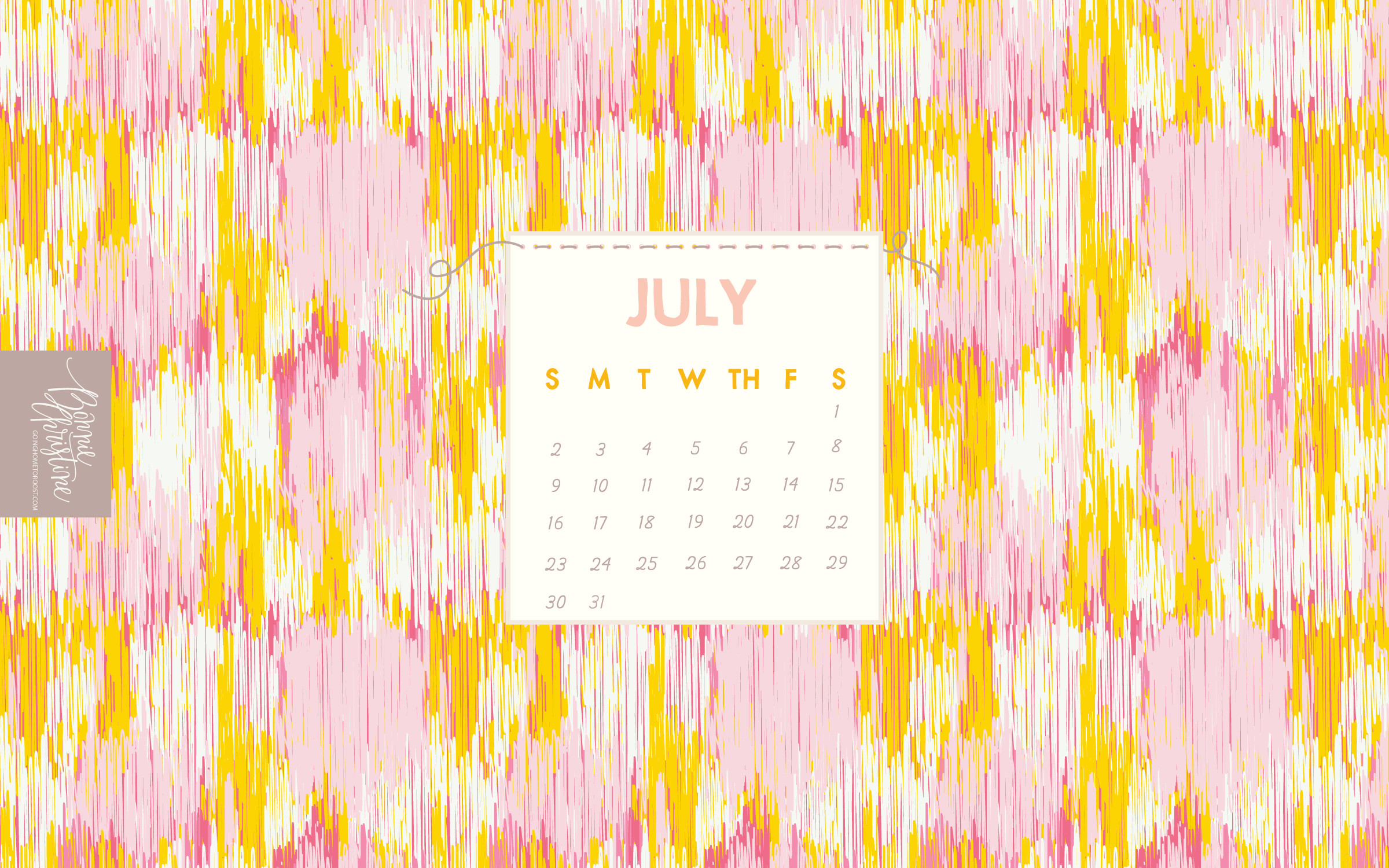 2400x1500 July's Digital + Printable Calendar Collection