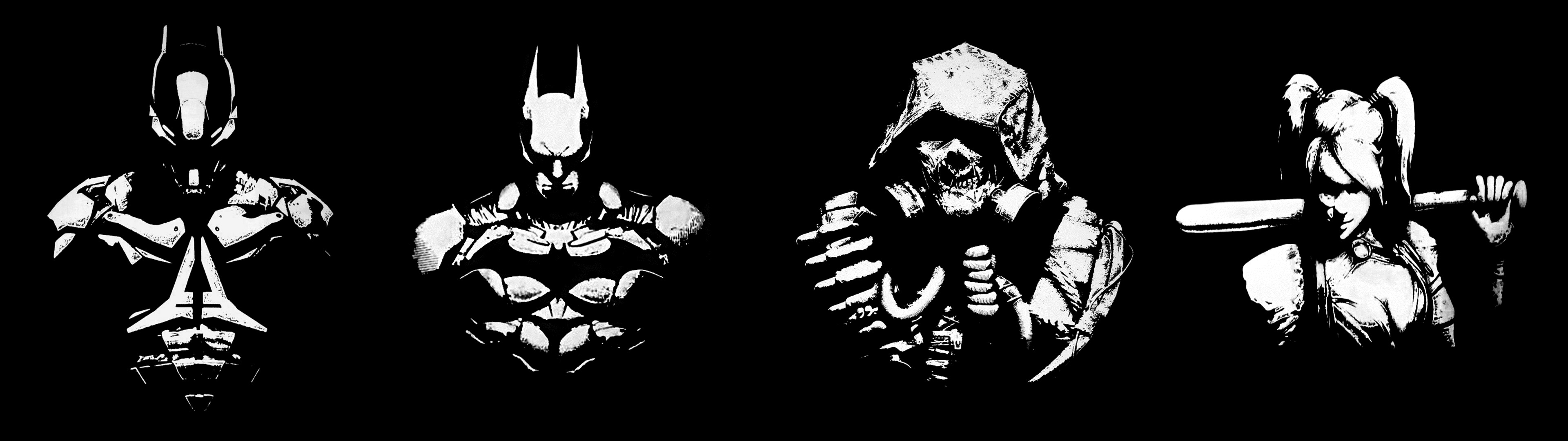 3840x1080 ] I edited four Batman Arkham wallpapers into one for .