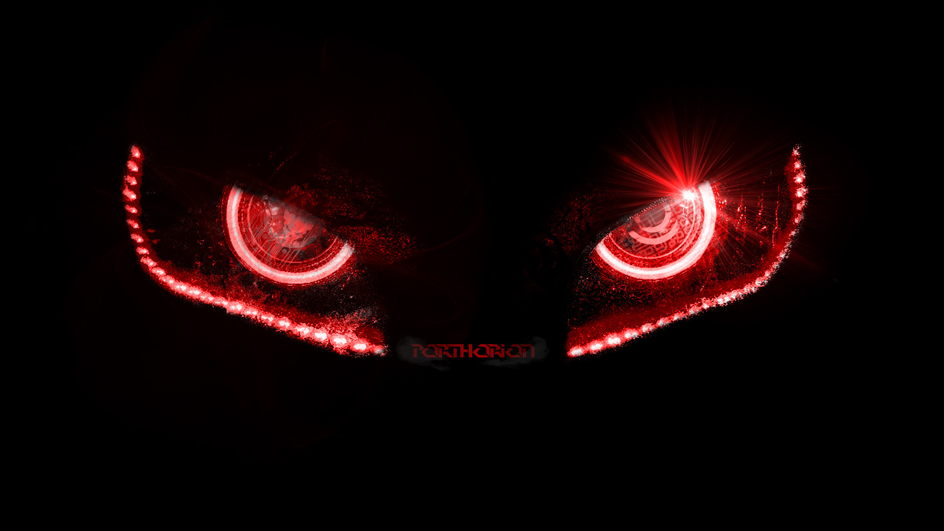 1920x1080 ... Badass Evil Robotic Eyes - without lines by porthorion