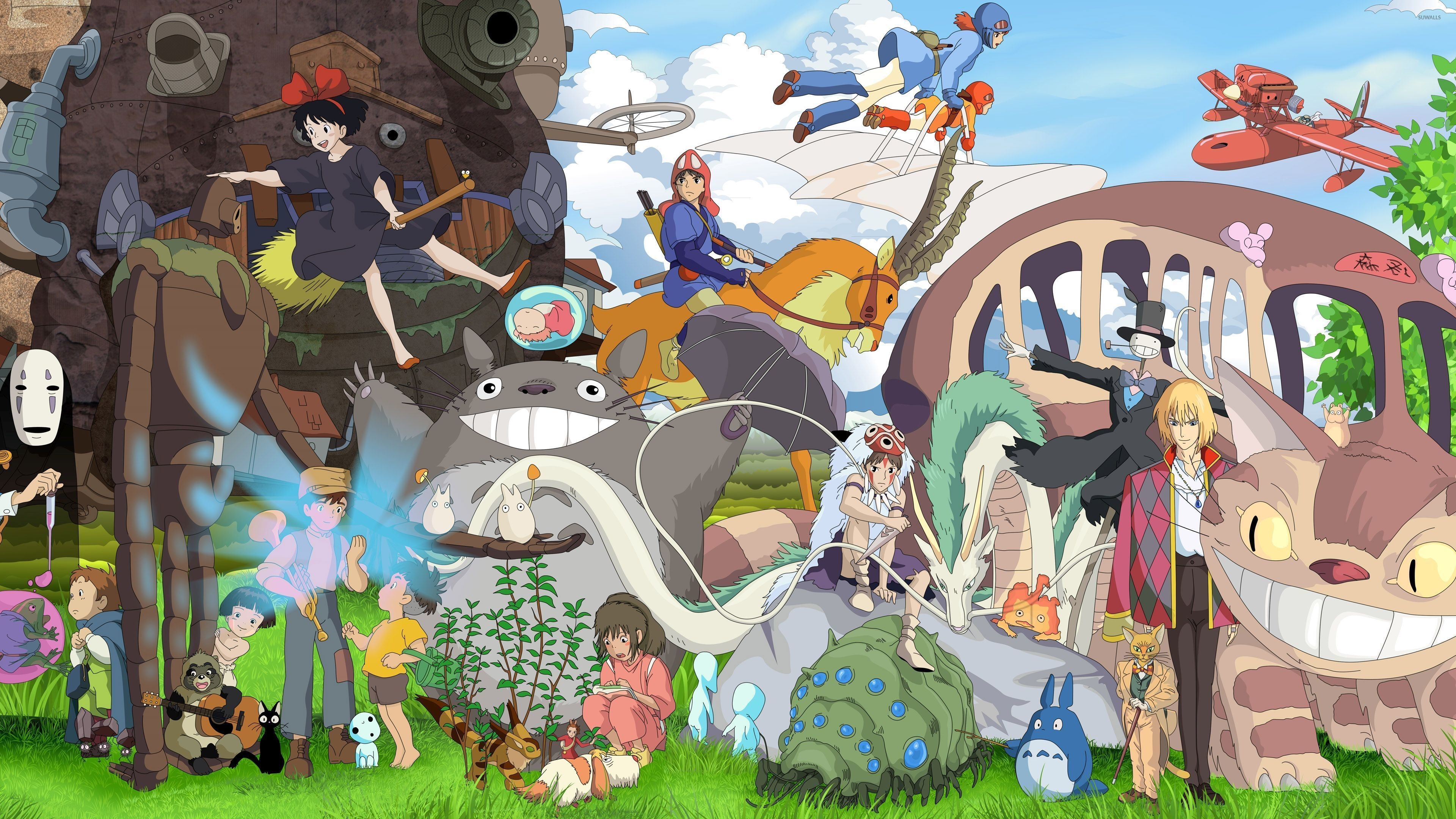 3840x2160  Studio Ghibli characters wallpaper - Anime wallpapers - #36913