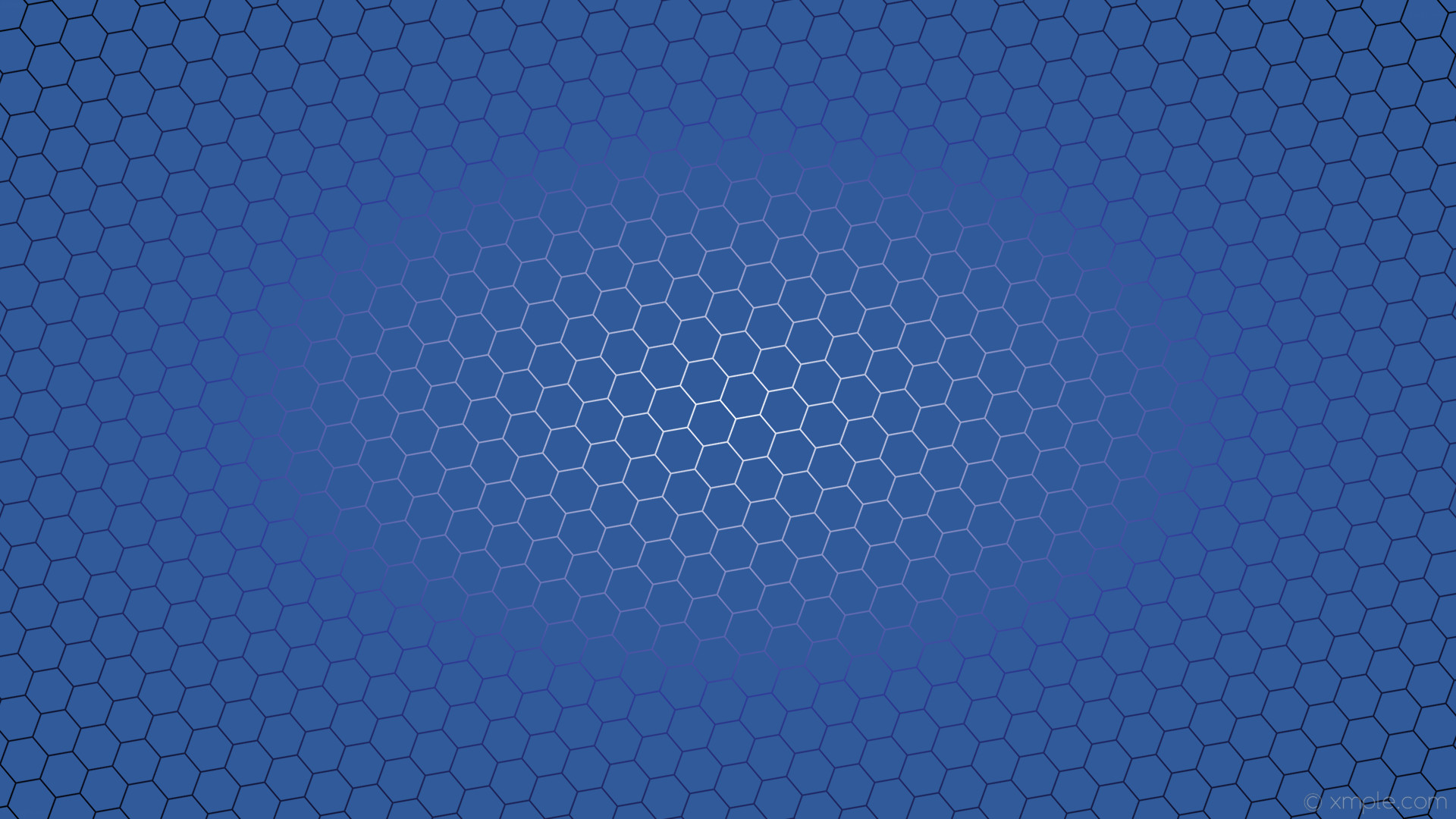 1920x1080 wallpaper black blue hexagon white azure glow gradient #305a99 #ffffff  #303a99 diagonal 40