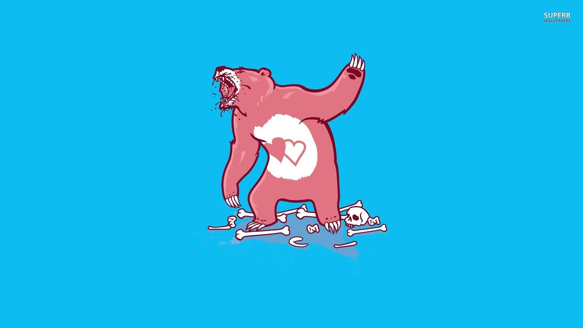 1920x1080 desktop funny care bear pictures wallpaper