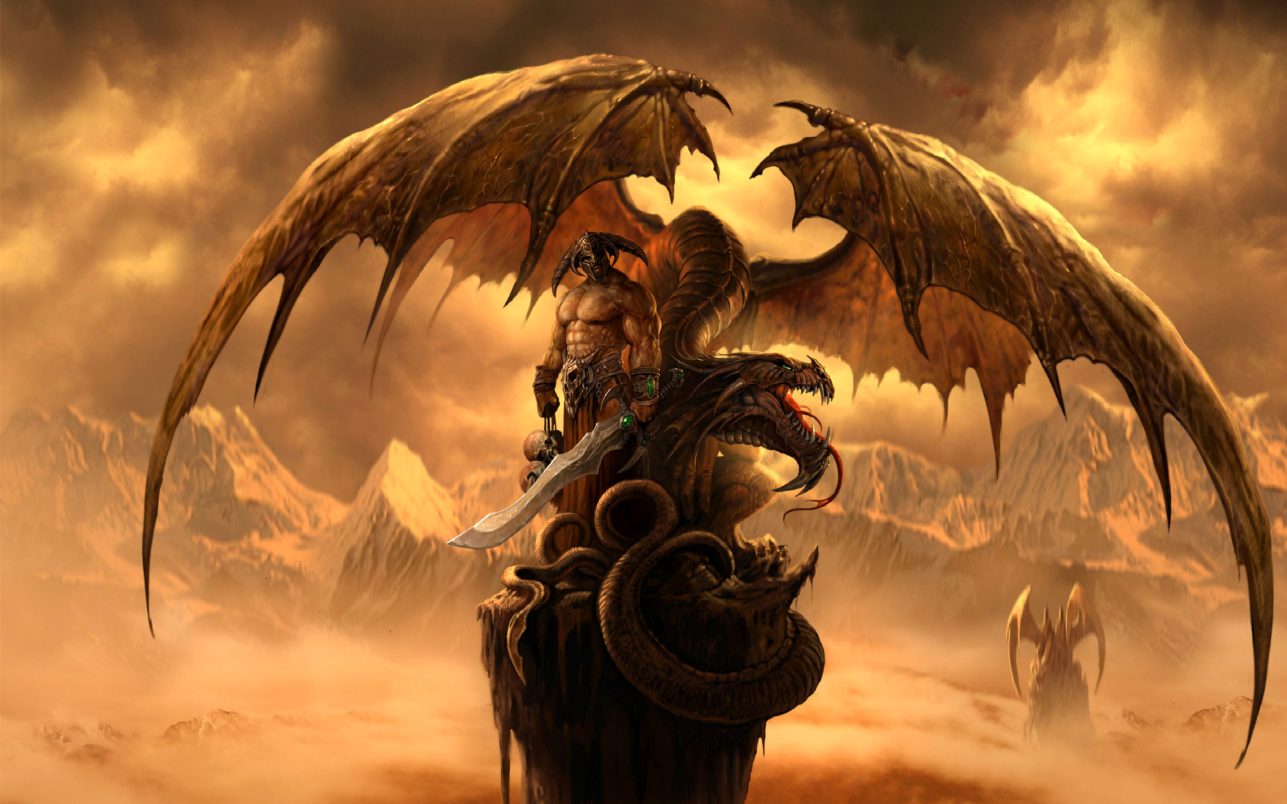 2560x1600 Fantasy Dragon Dragons Wallpaper 27155090