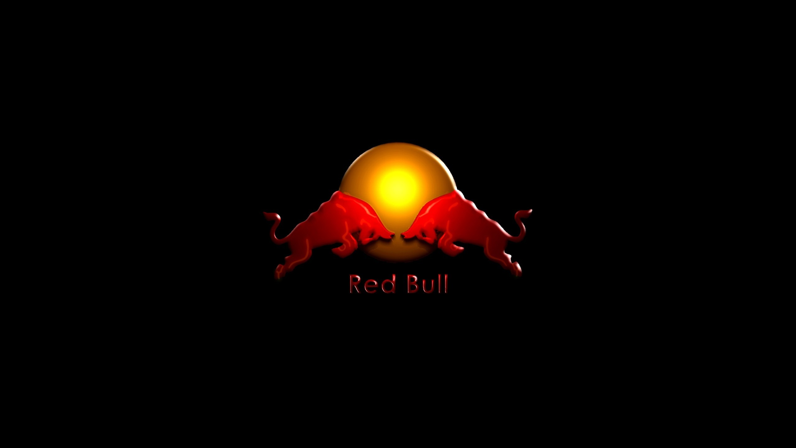 2560x1440 Preview wallpaper red bull, drink, energy, logo