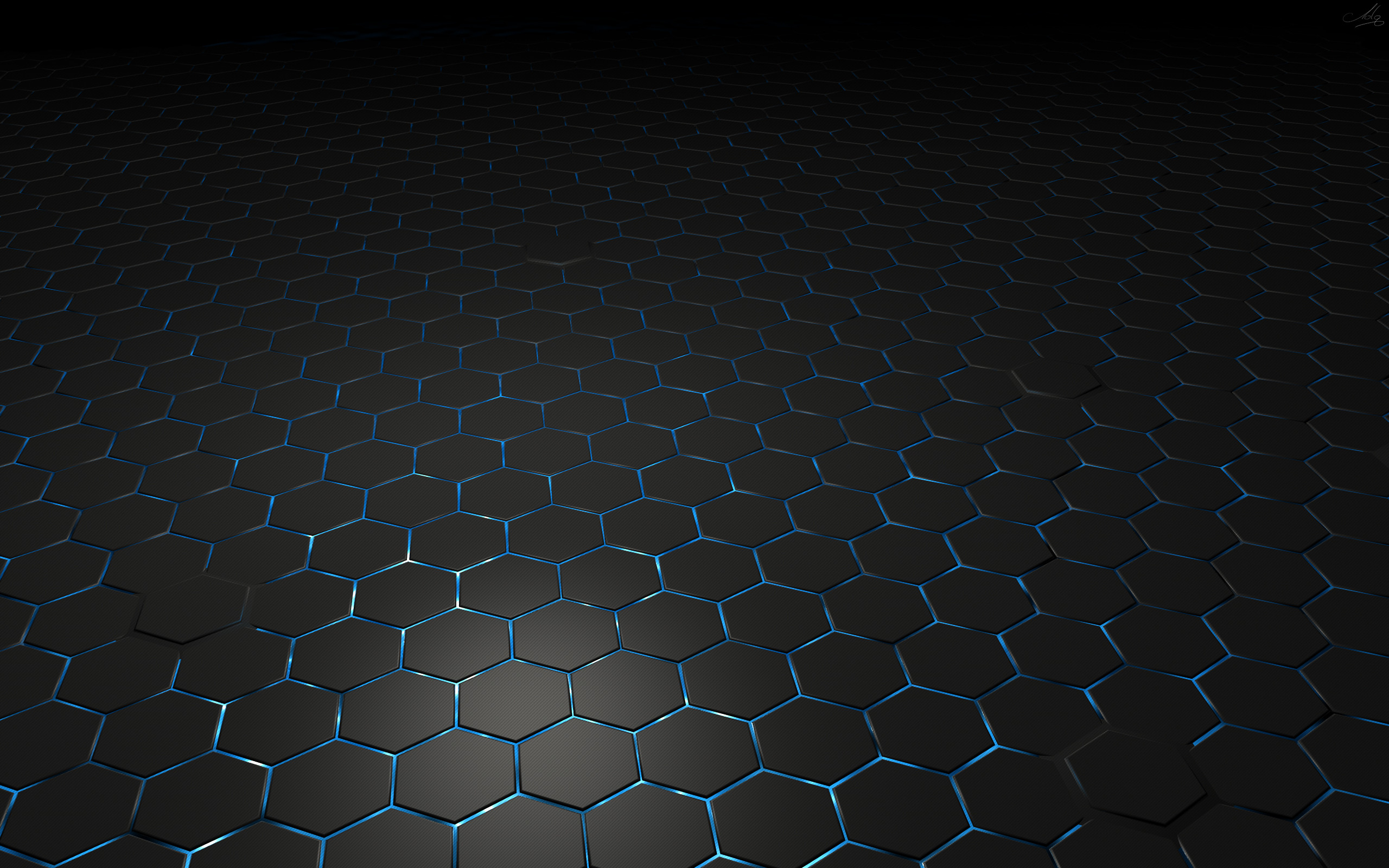 2560x1600 Hexagon Widescreen Wallpaper