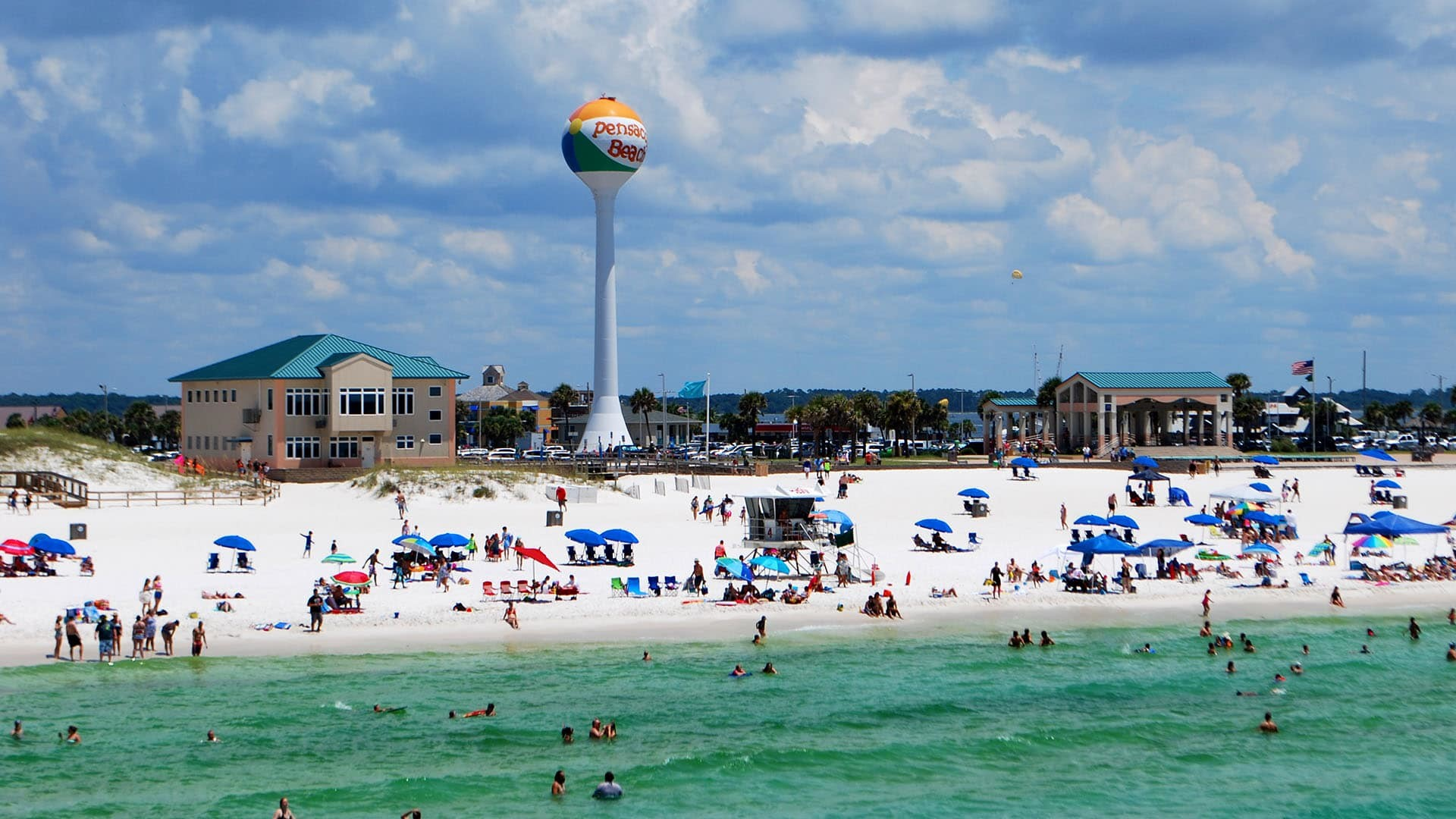 1920x1080 The beach ball water tower is a symbol of Pensacola Beach.