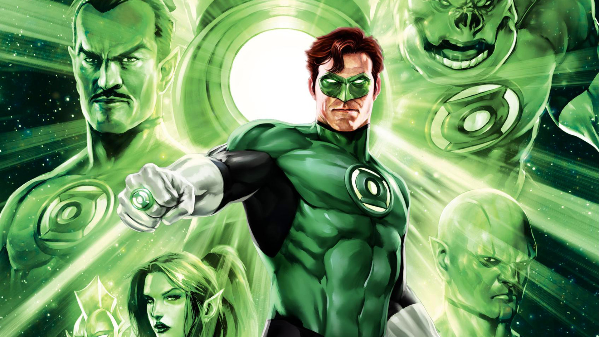 1920x1200 Green Lantern Dc Comics Deadpool Wade Wilson Marvel 1440x900 Wallpaper