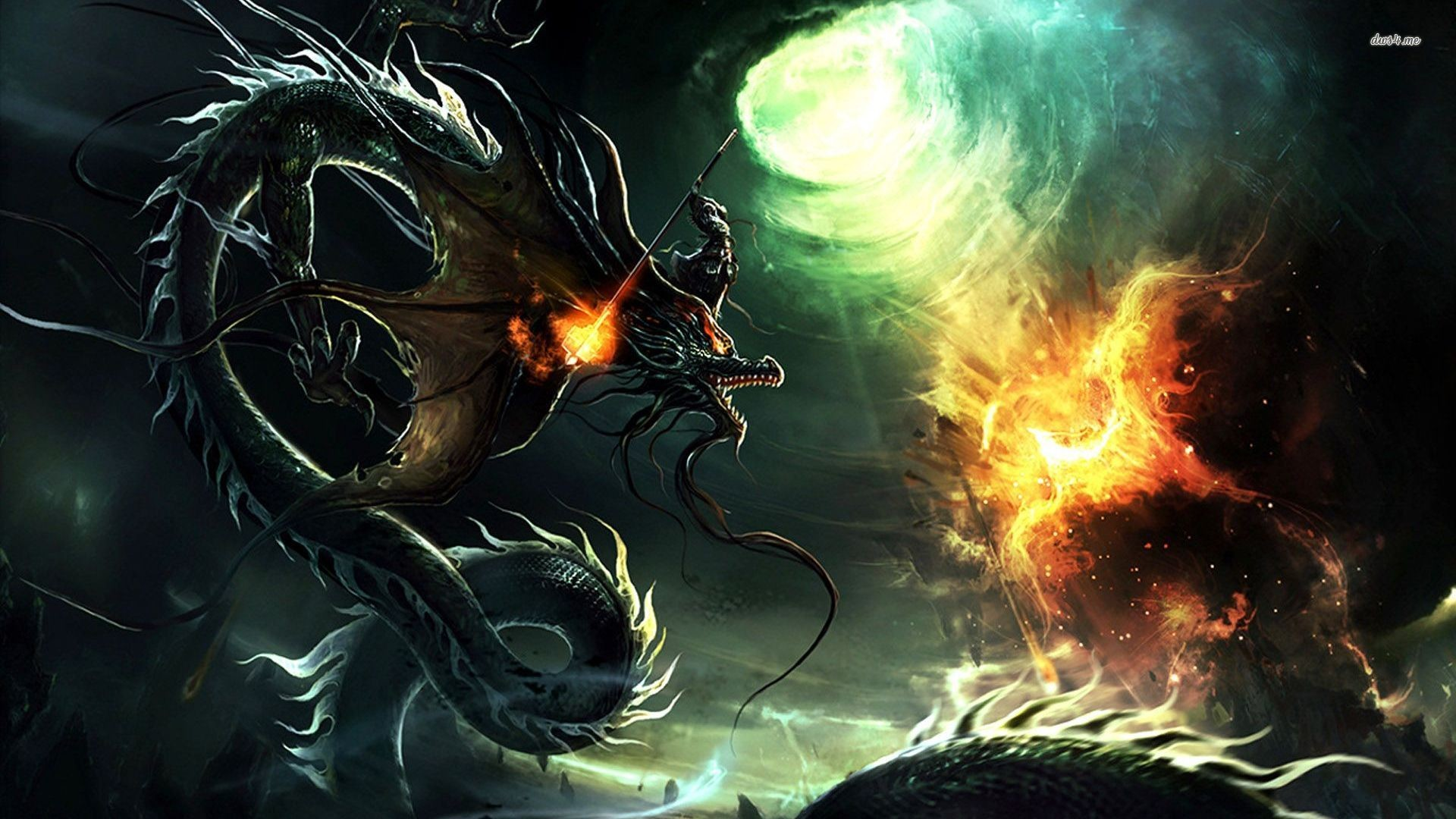 1920x1080 Dragon vs Phoenix, two out of Share Your Wallpaper - Page 97