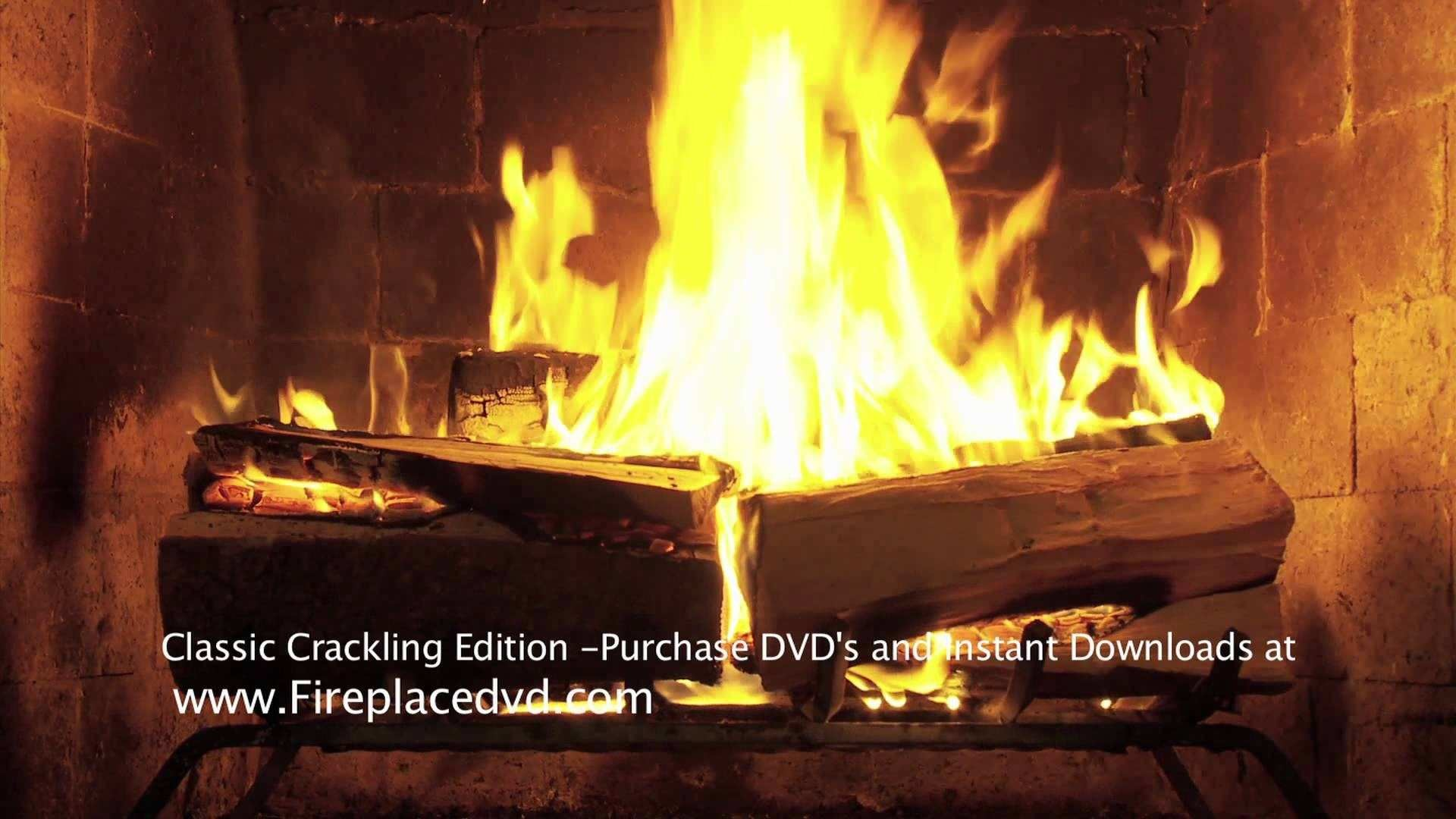 1920x1080 Fireplace Crackling Yule Log in HD 1080P Free