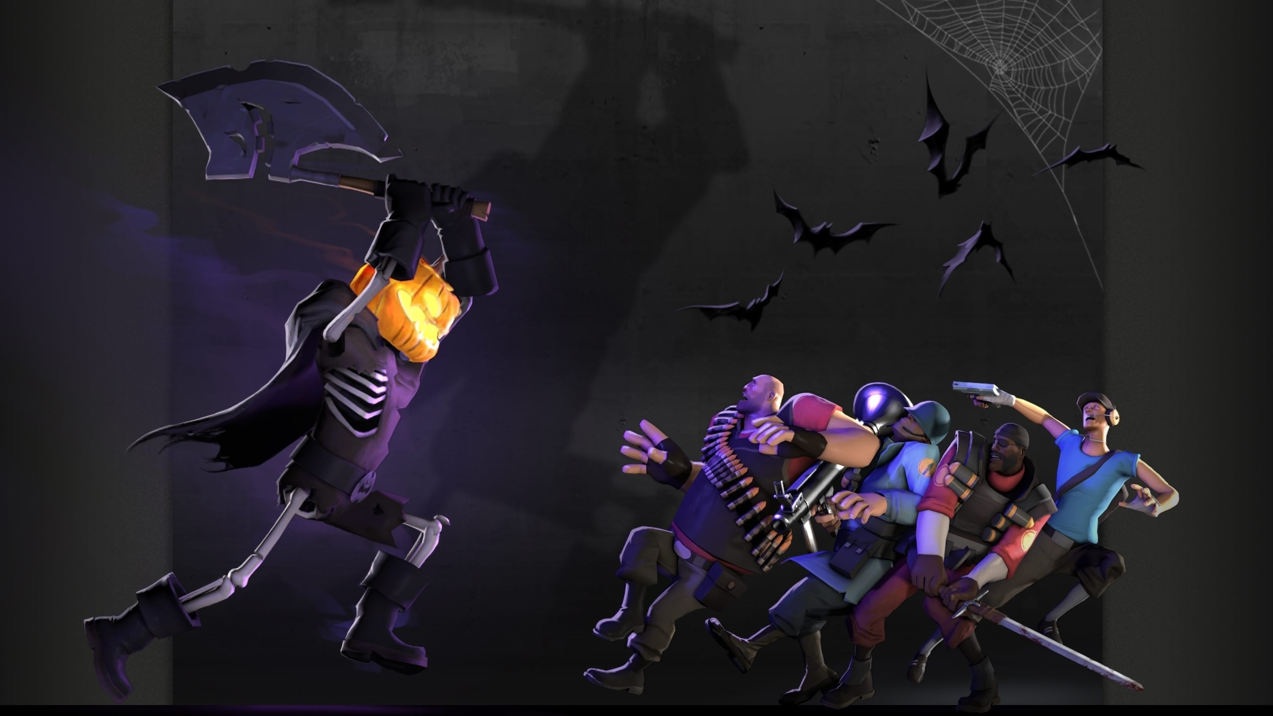 2560x1440 Description: Download Heavy tf2 halloween scout tf2 demoman tf2 team  fortress 2 jack o wallpaper/desktop background in  HD & Widescreen  resolution.