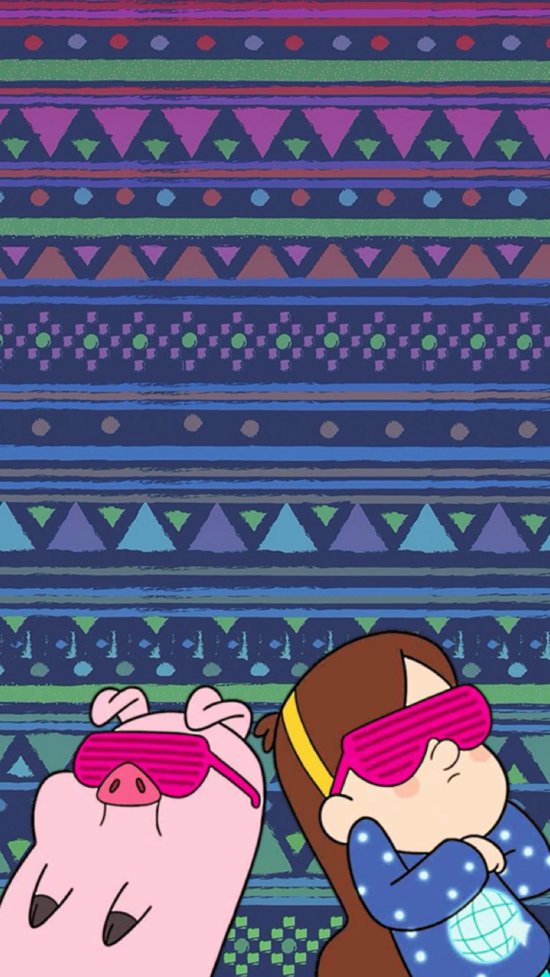 1082x1920 gravity falls Mabel y Pato