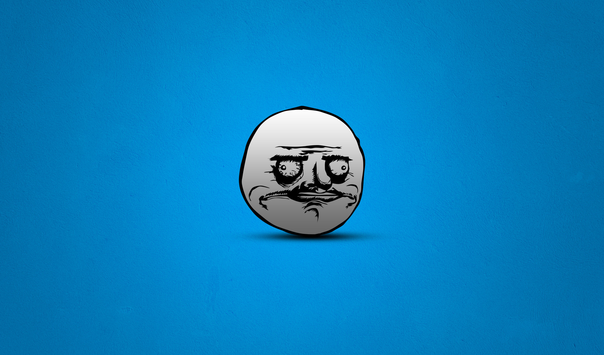 1920x1128 Troll Face Meme HD Wallpaper With Fully Blue Color