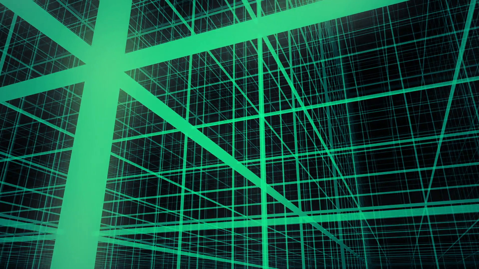 1920x1080 3D Neon Green Grid Background Animation Loop Motion Background - VideoBlocks