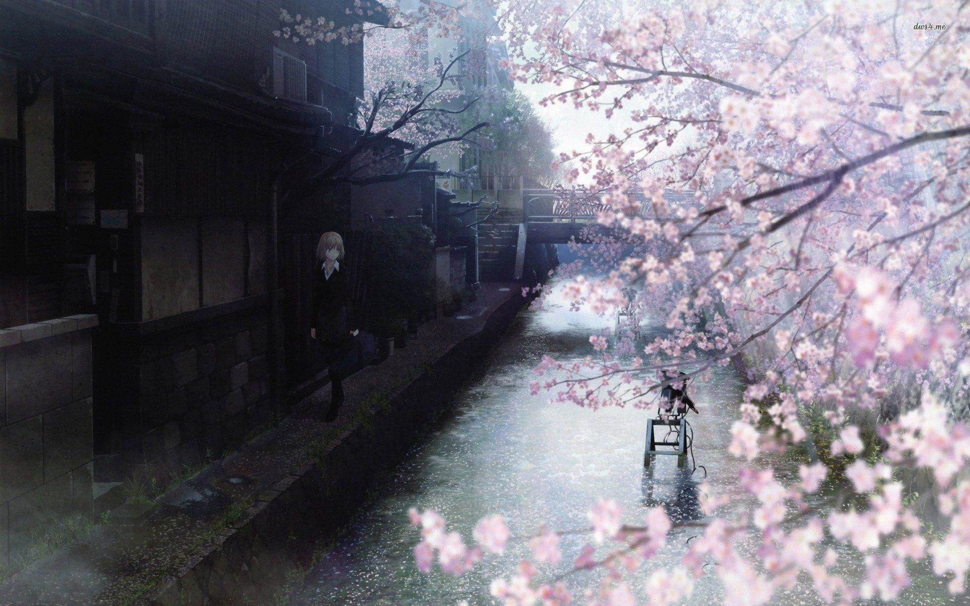1920x1200 wallpaper.wiki-HQ-Anime-Cherry-Blossom-PIC-WPC004906