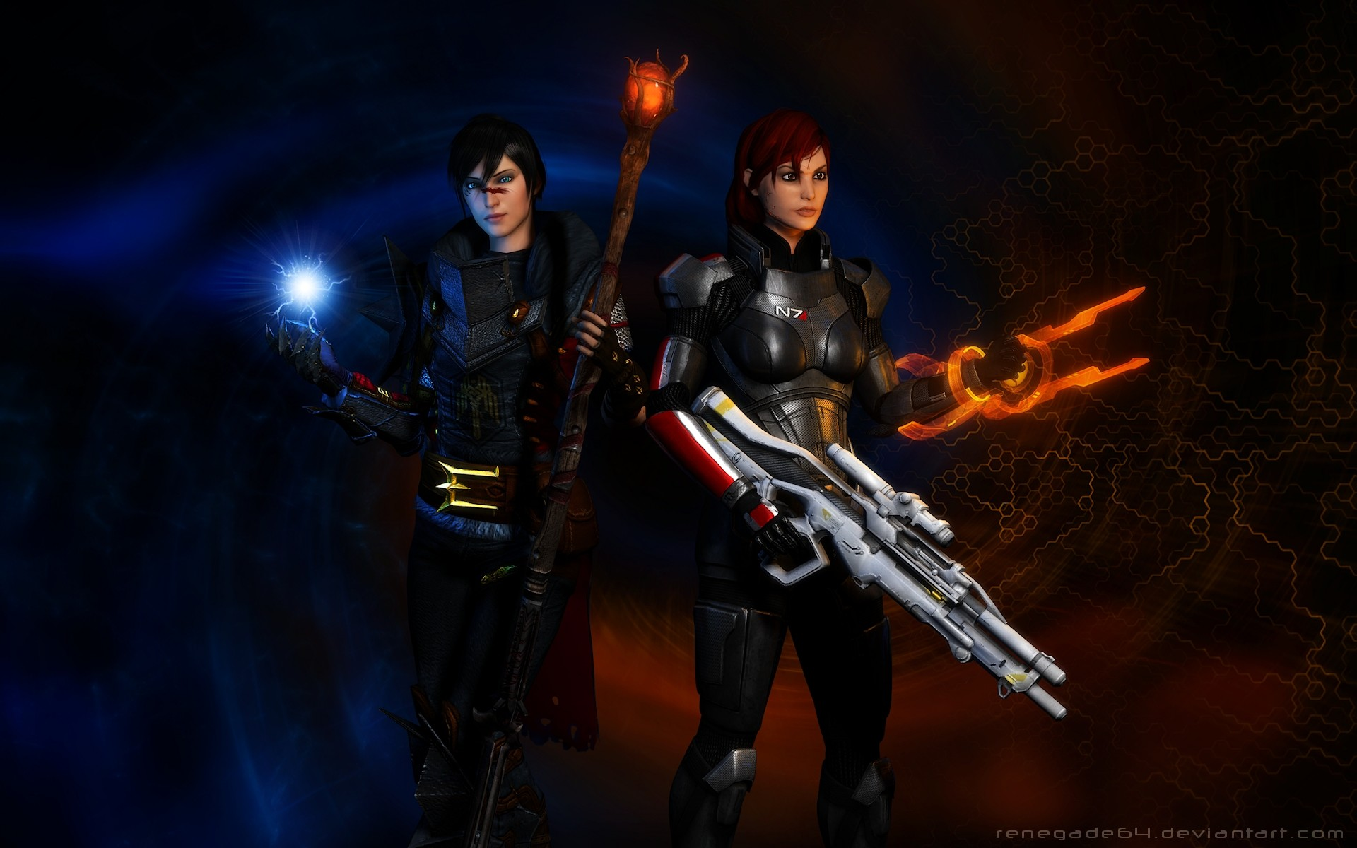 1920x1200 Hawke and Shepard by Renegade64 Hawke and Shepard by Renegade64