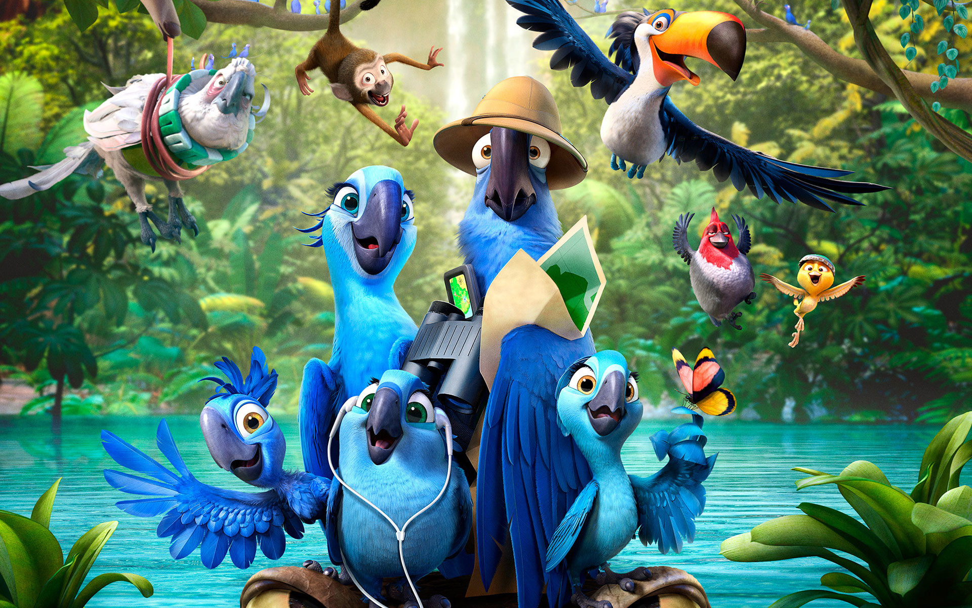 1920x1200 Rio 2 Movie wallpaper