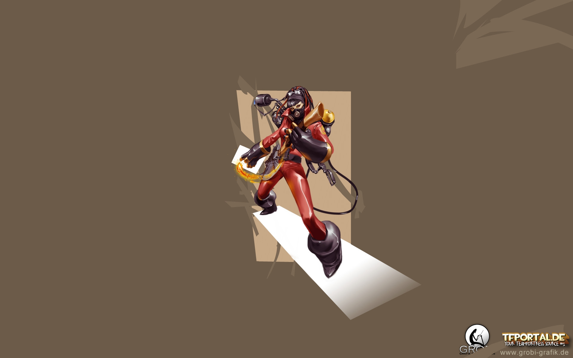 1920x1200 1920x1080. TF2 Girl Soldier Wallpaper