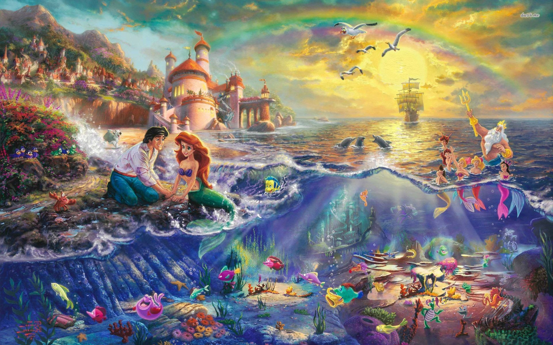 2500x1672 LITTLE MERMAID Disney Fantasy Animation Cartoon Adventure Family 1littlemermaid Ariel Princess Ocean Sea Underwater Wallpaper